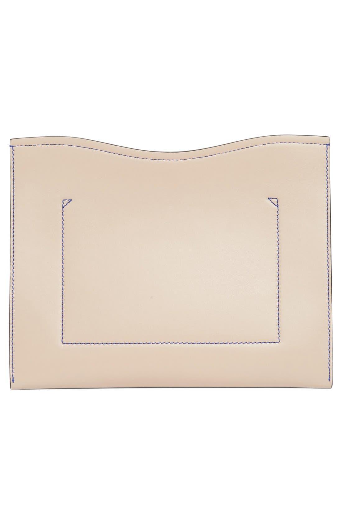 Medium Calfskin Leather Clutch,                             Alternate thumbnail 5, color,                             250