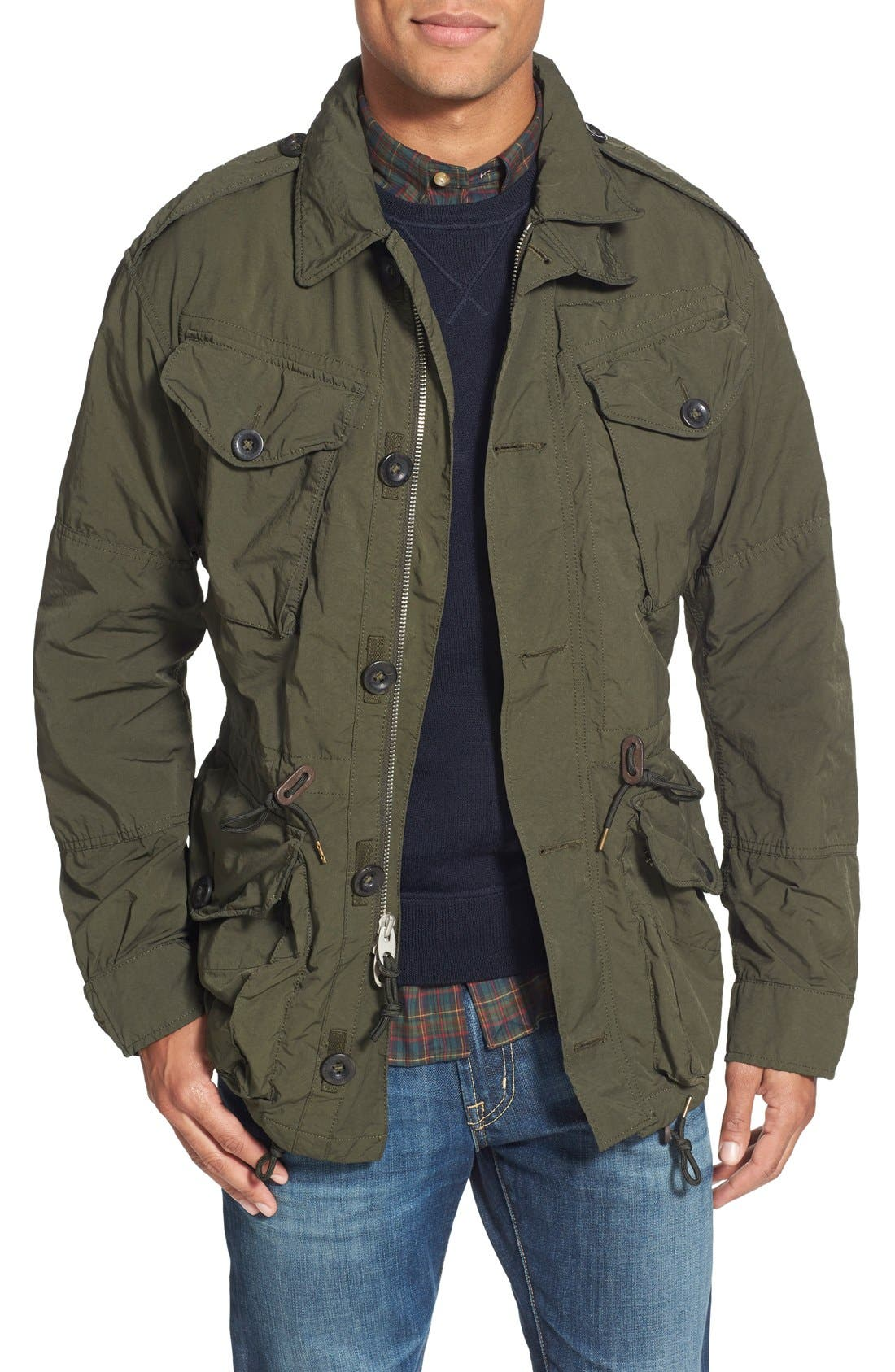 Twill Combat Military Jacket, Main, color, 300