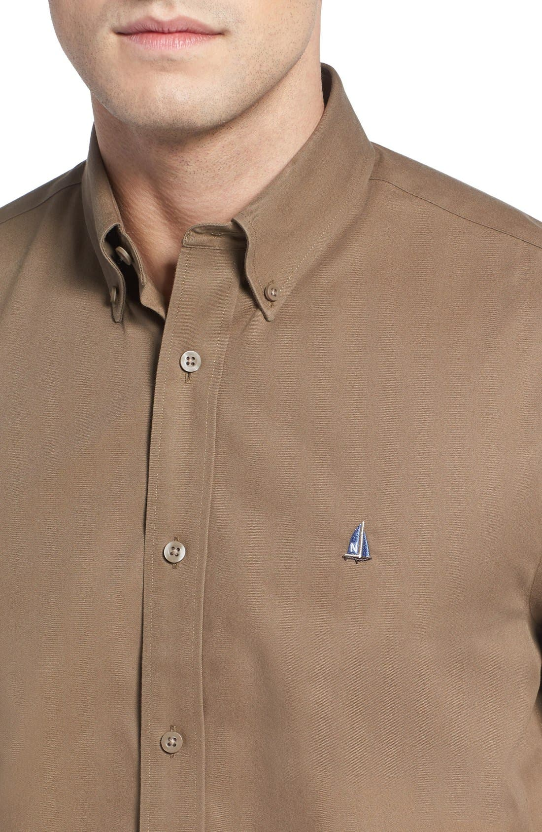 Smartcare<sup>™</sup> Traditional Fit Twill Boat Shirt,                             Alternate thumbnail 116, color,