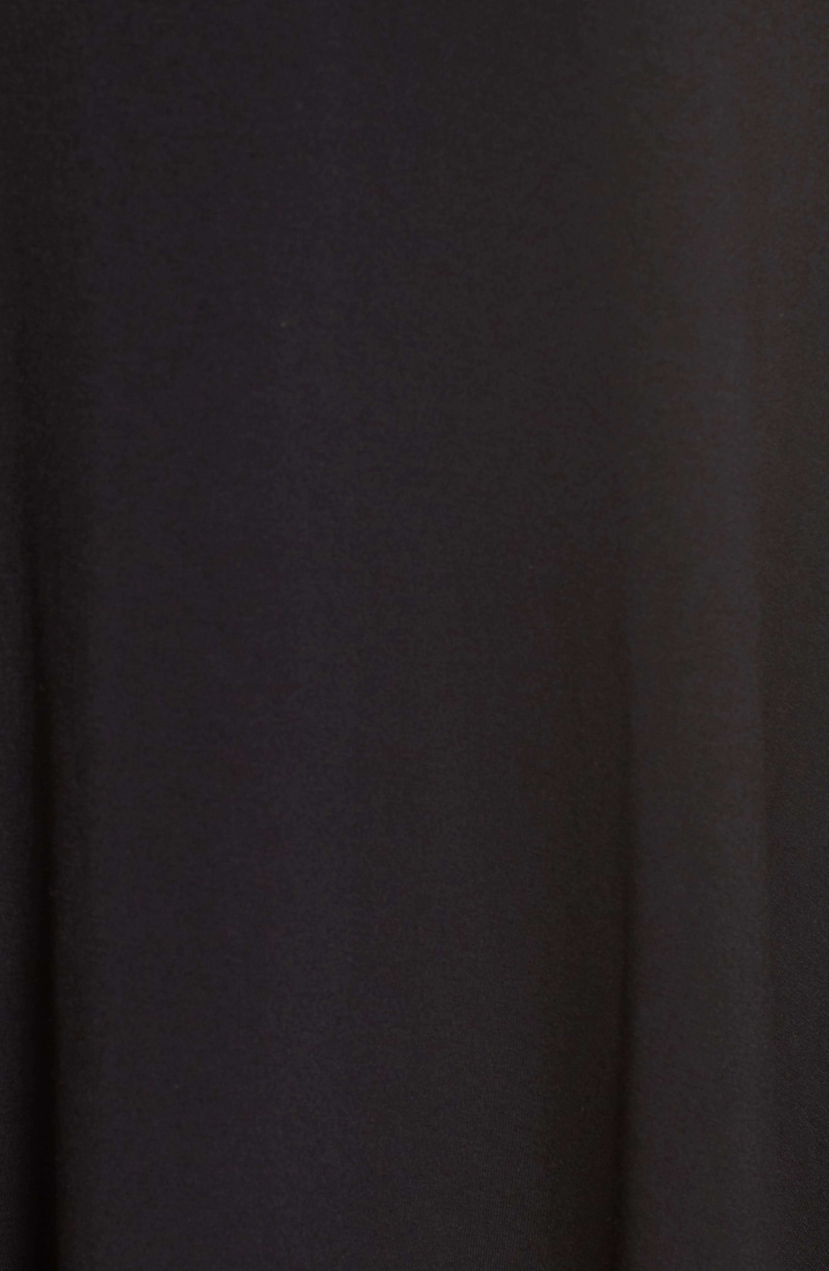 Stretch Knit Shift Dress,                             Alternate thumbnail 5, color,                             RICH BLACK