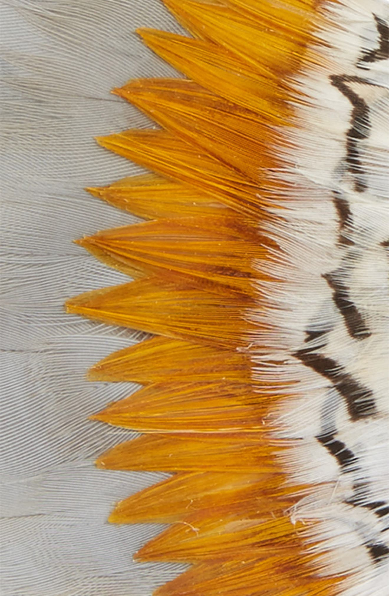Brackish & Bell Stono Feather Bow Tie,                             Alternate thumbnail 2, color,                             YELLOW/ GREY