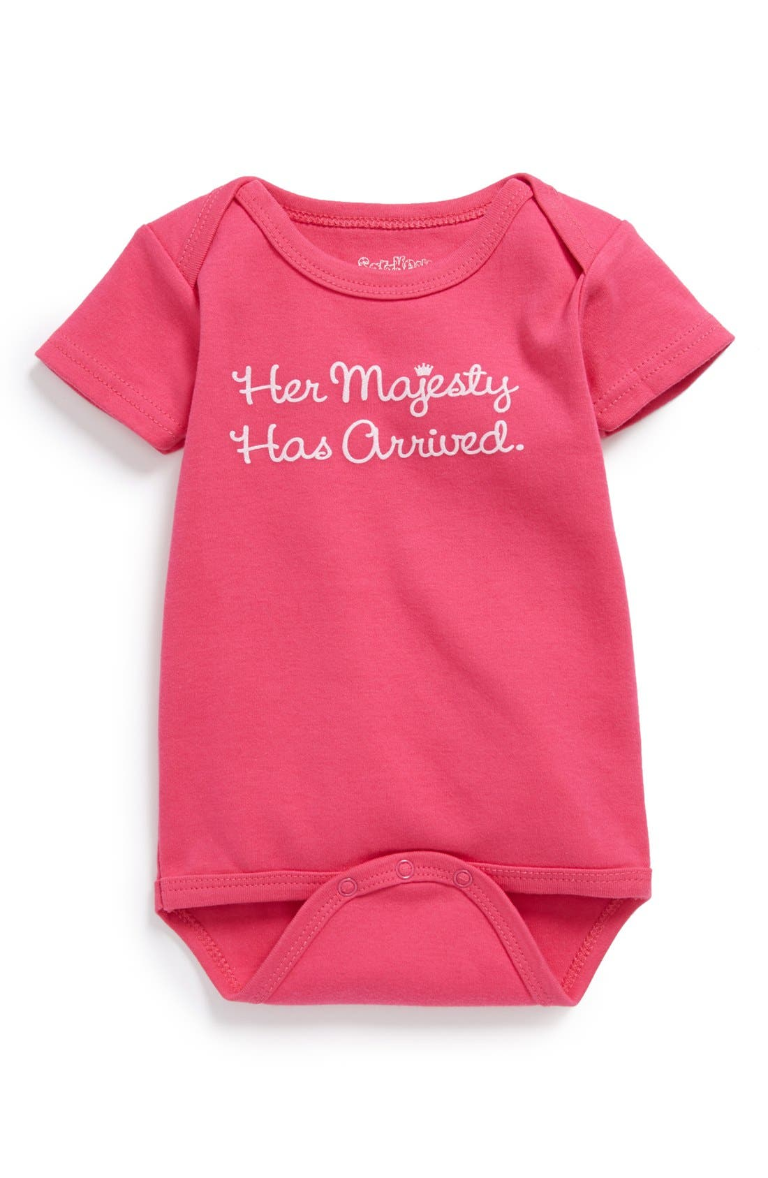 'Her Majesty' Cotton Bodysuit,                             Main thumbnail 1, color,                             HOT PINK