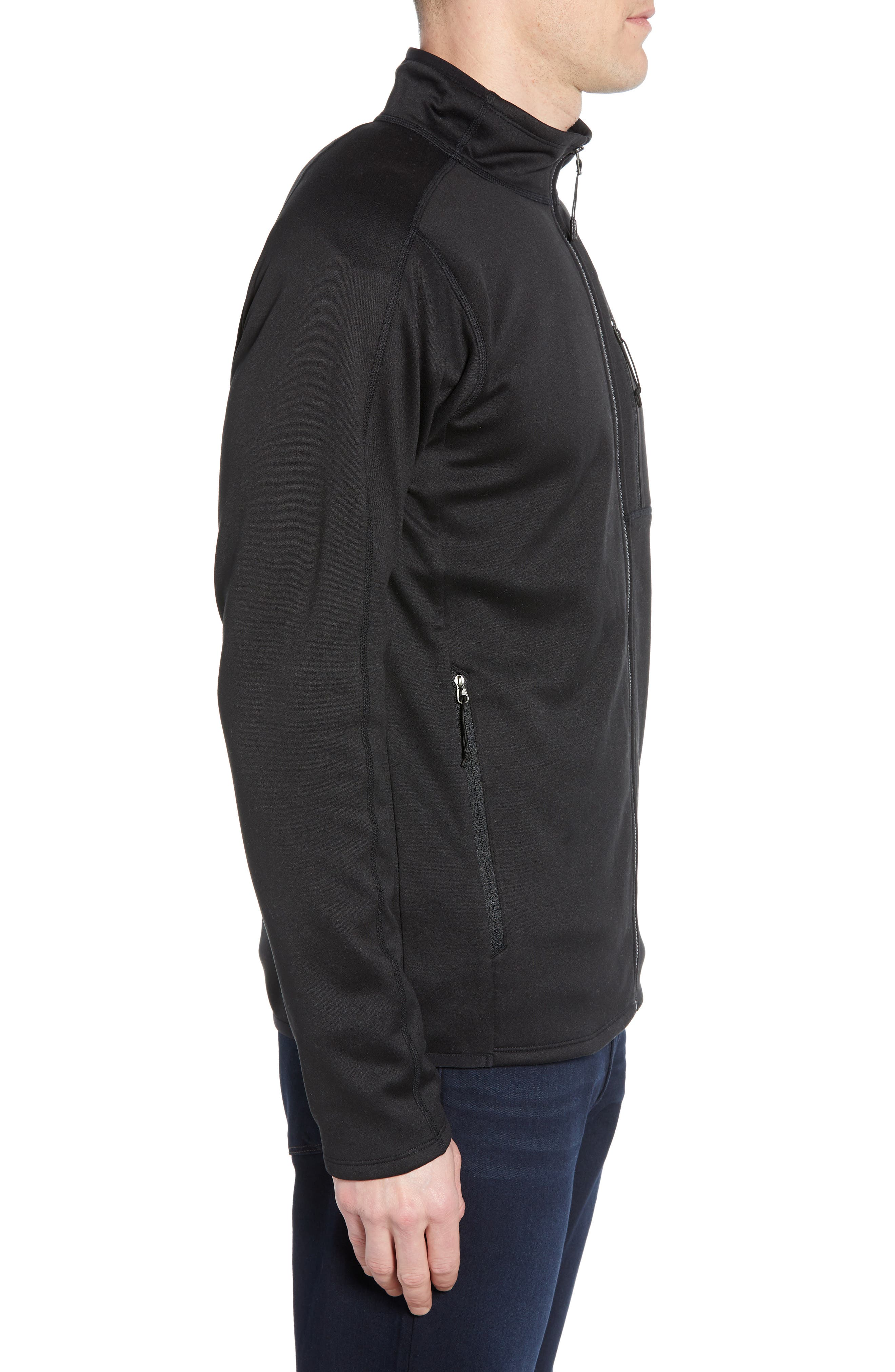 THE NORTH FACE,                             Canyonlands Zip Jacket,                             Alternate thumbnail 3, color,                             TNF BLACK