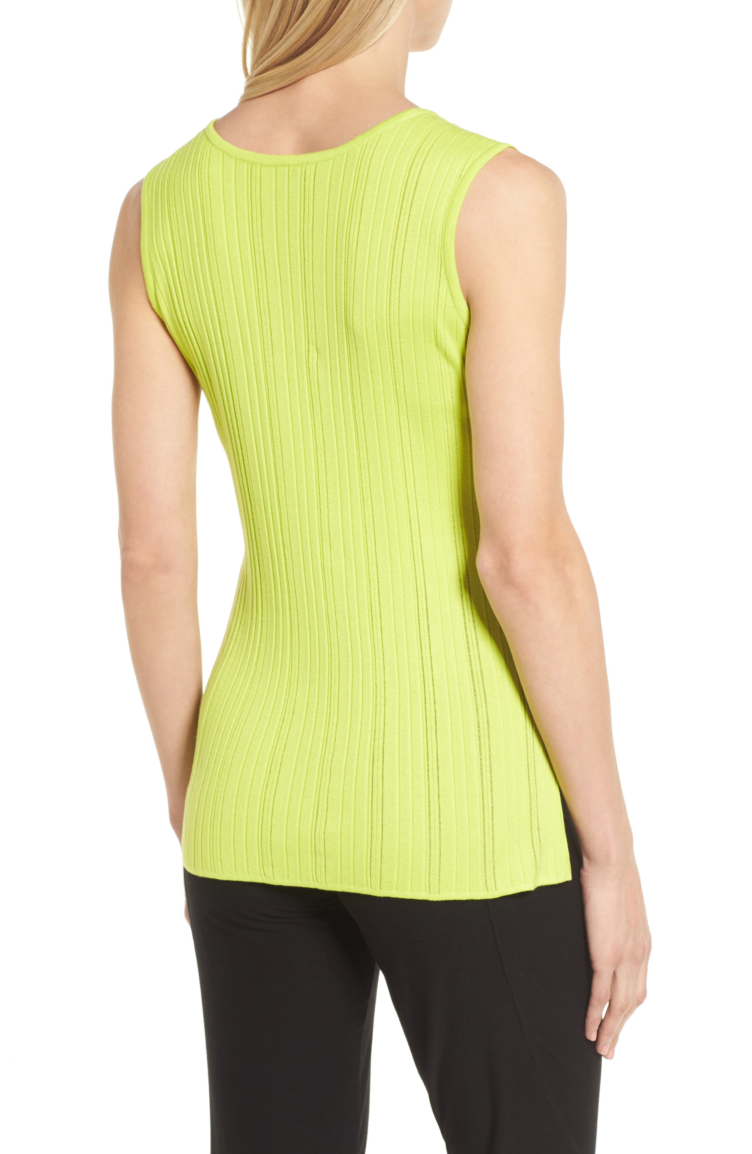 Scoop Neck Ribbed Knit Tank,                             Alternate thumbnail 2, color,                             321