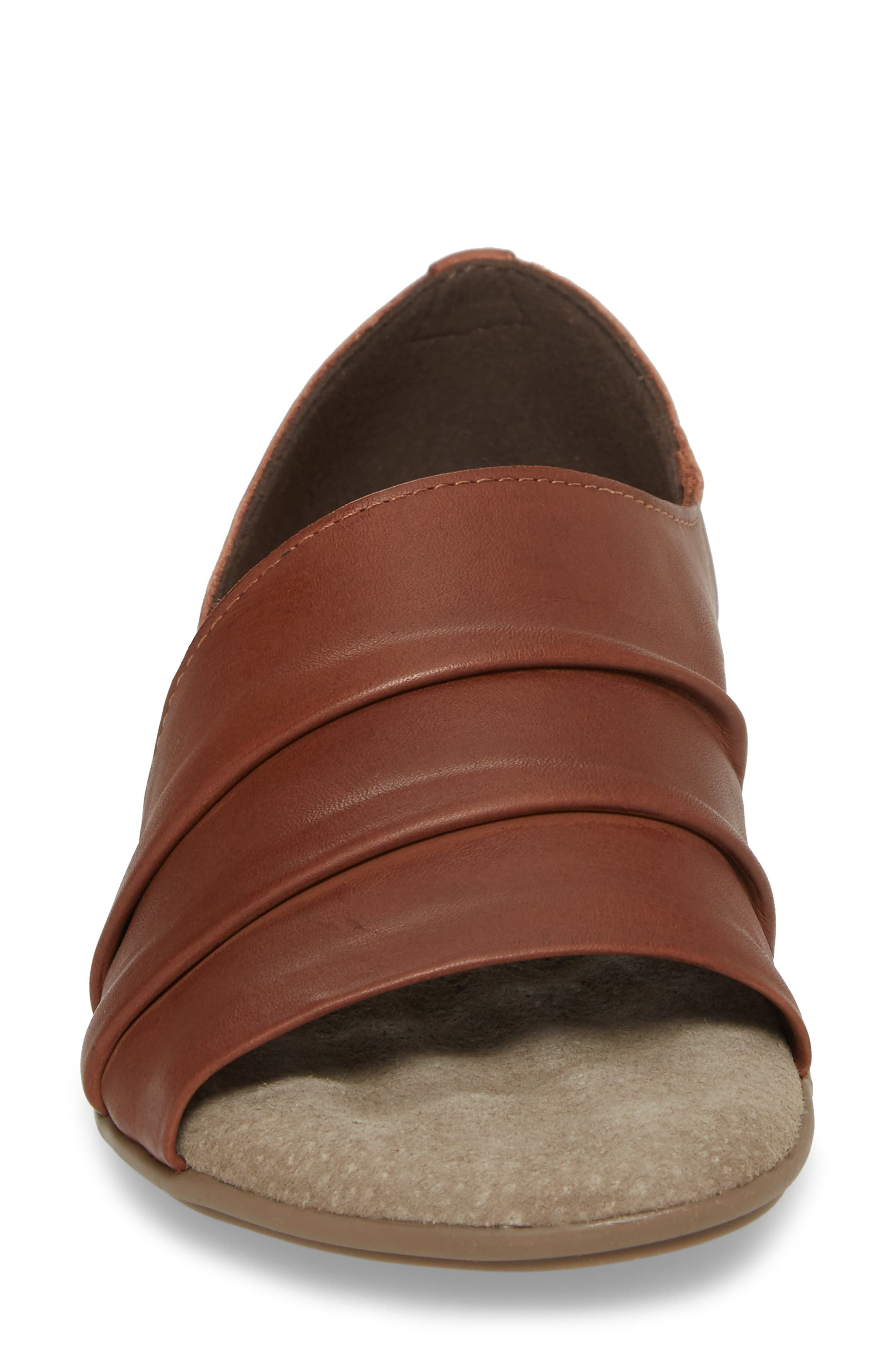 Bronte Flat,                             Alternate thumbnail 4, color,                             CAMEL LEATHER
