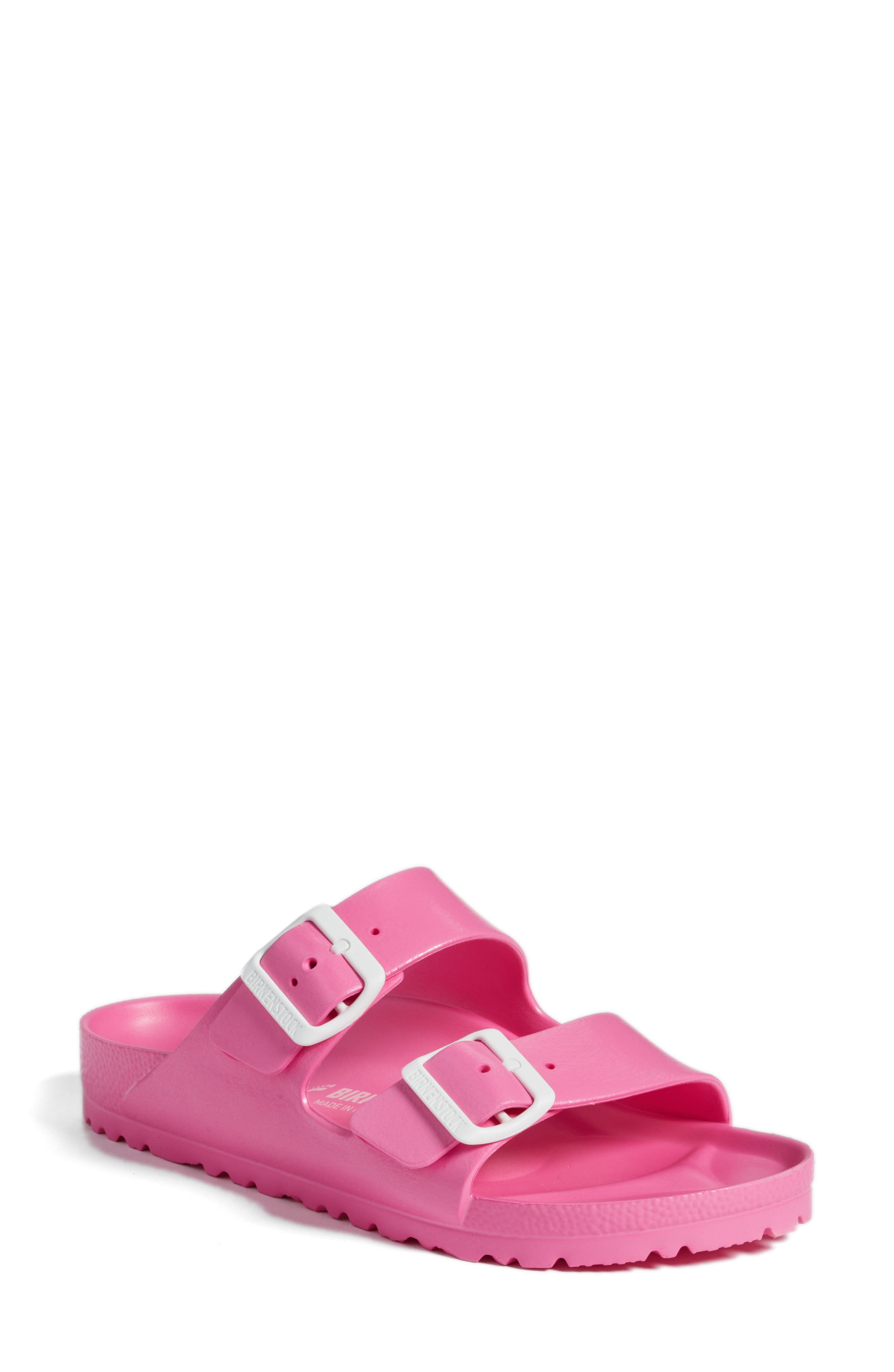 Essentials - Arizona Slide Sandal,                         Main,                         color, PINK EVA