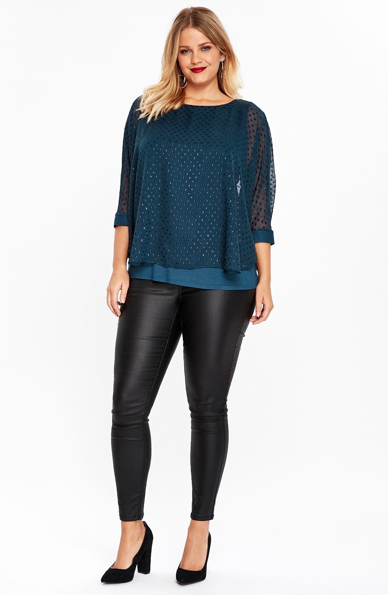 Sparkle Overlay Top,                             Alternate thumbnail 5, color,