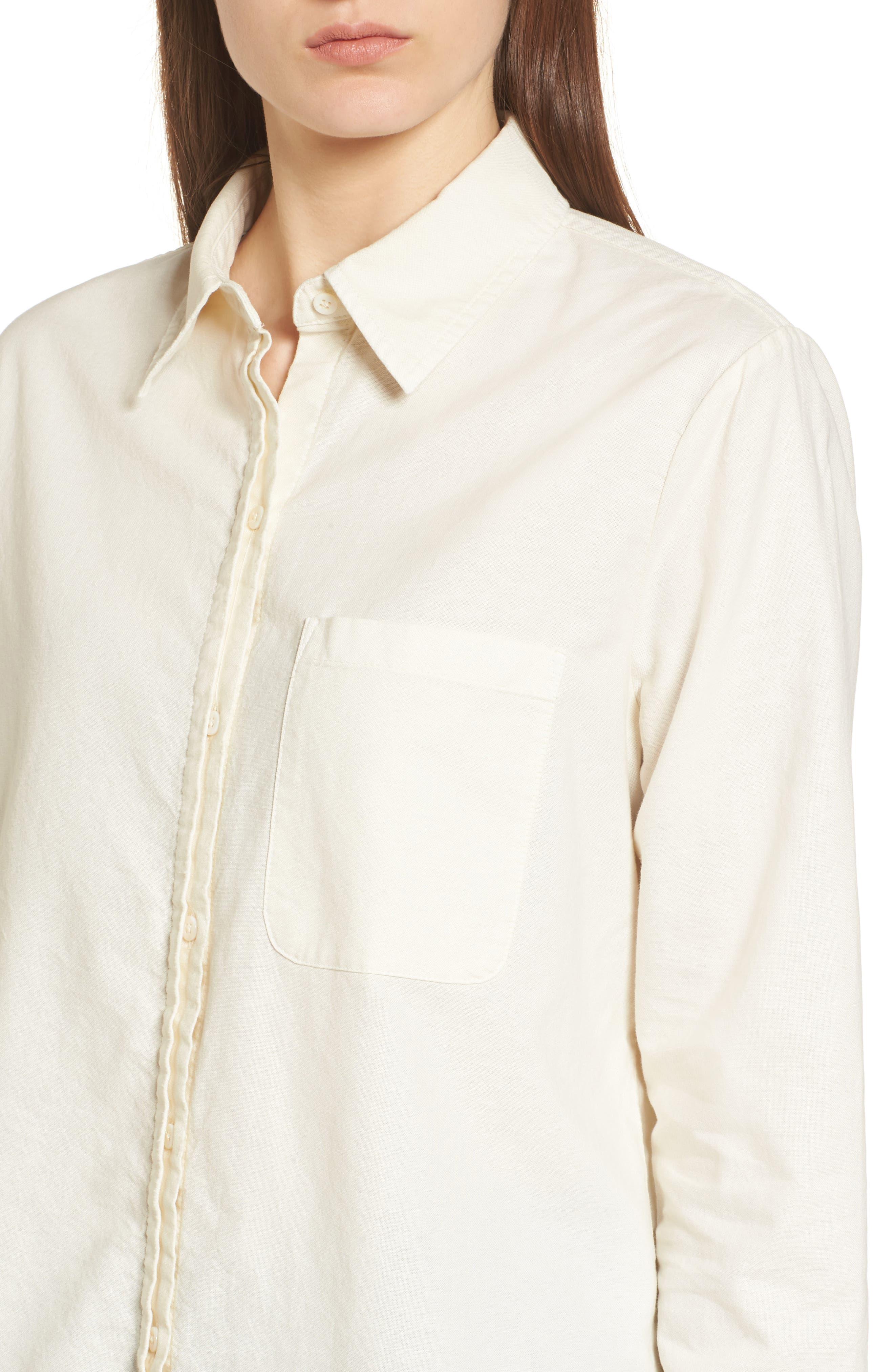 Shana Woven Shirt,                             Alternate thumbnail 4, color,                             100