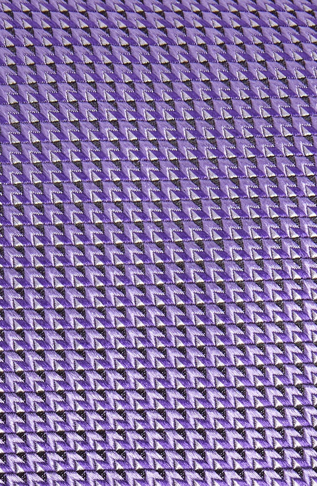 Solid Silk X-Long Tie,                             Alternate thumbnail 2, color,                             PURPLE