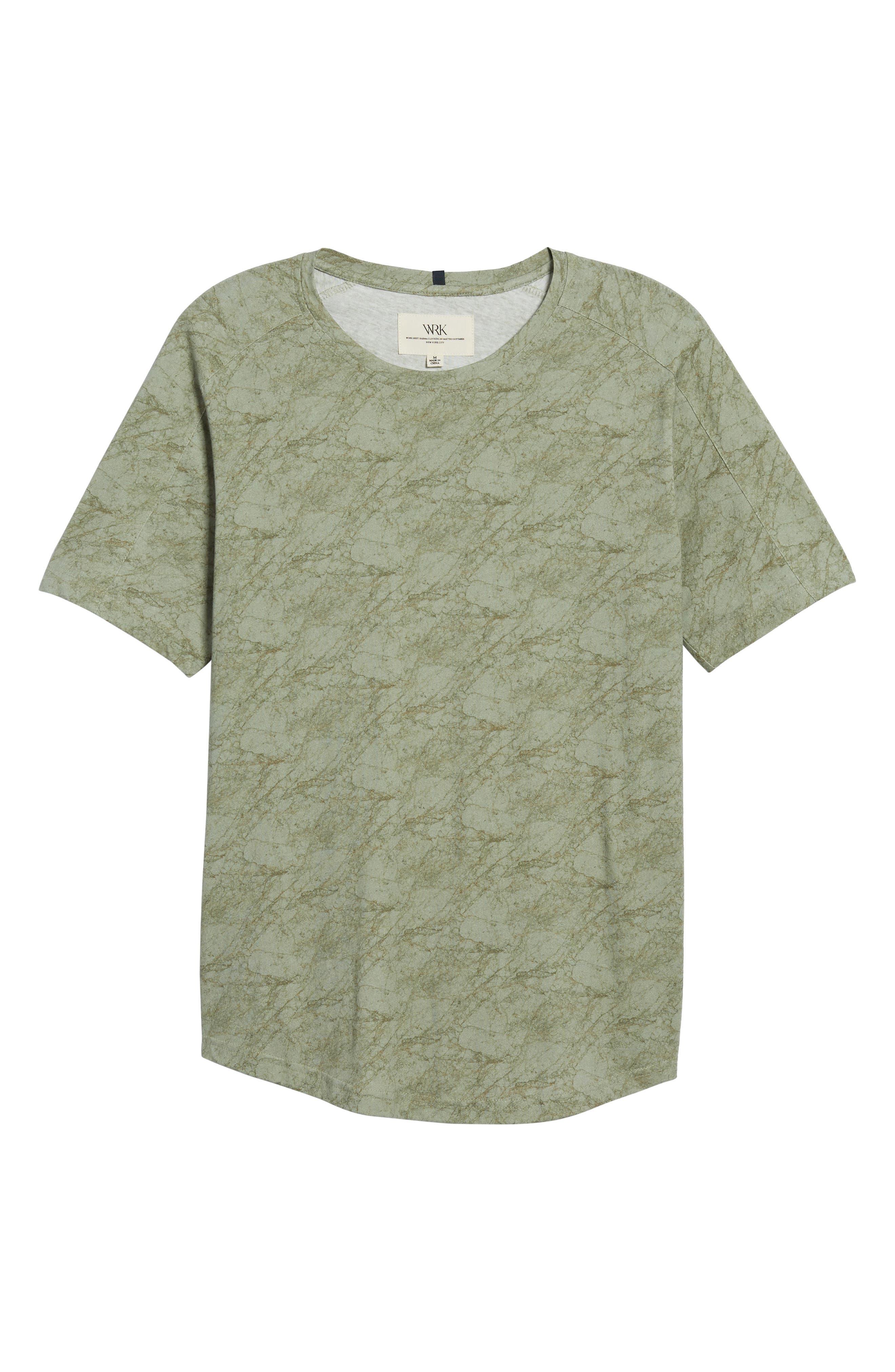 Chelsea Marble Print T-Shirt,                             Alternate thumbnail 6, color,