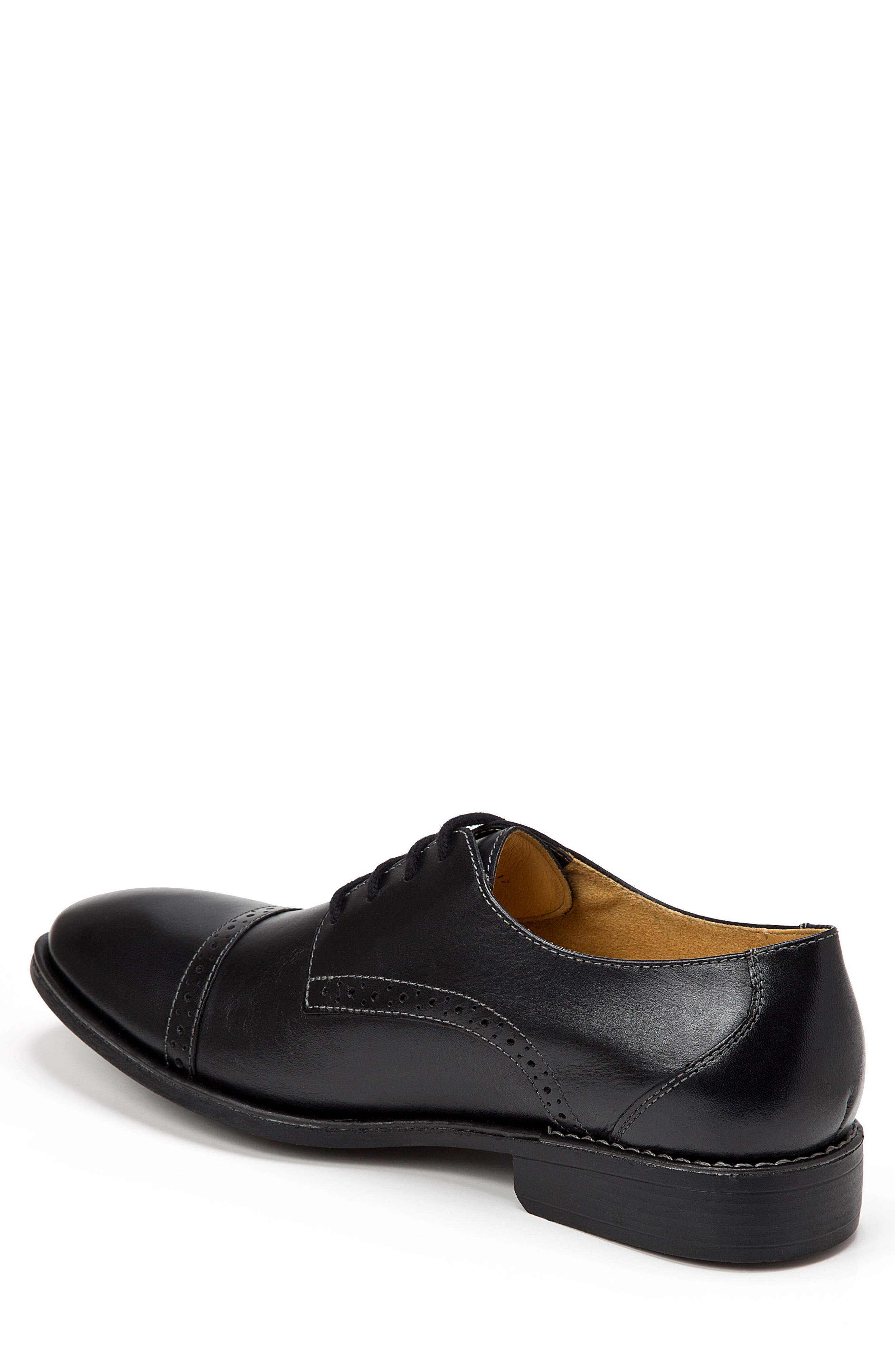Elbert Cap Toe Derby,                             Alternate thumbnail 2, color,                             BLACK