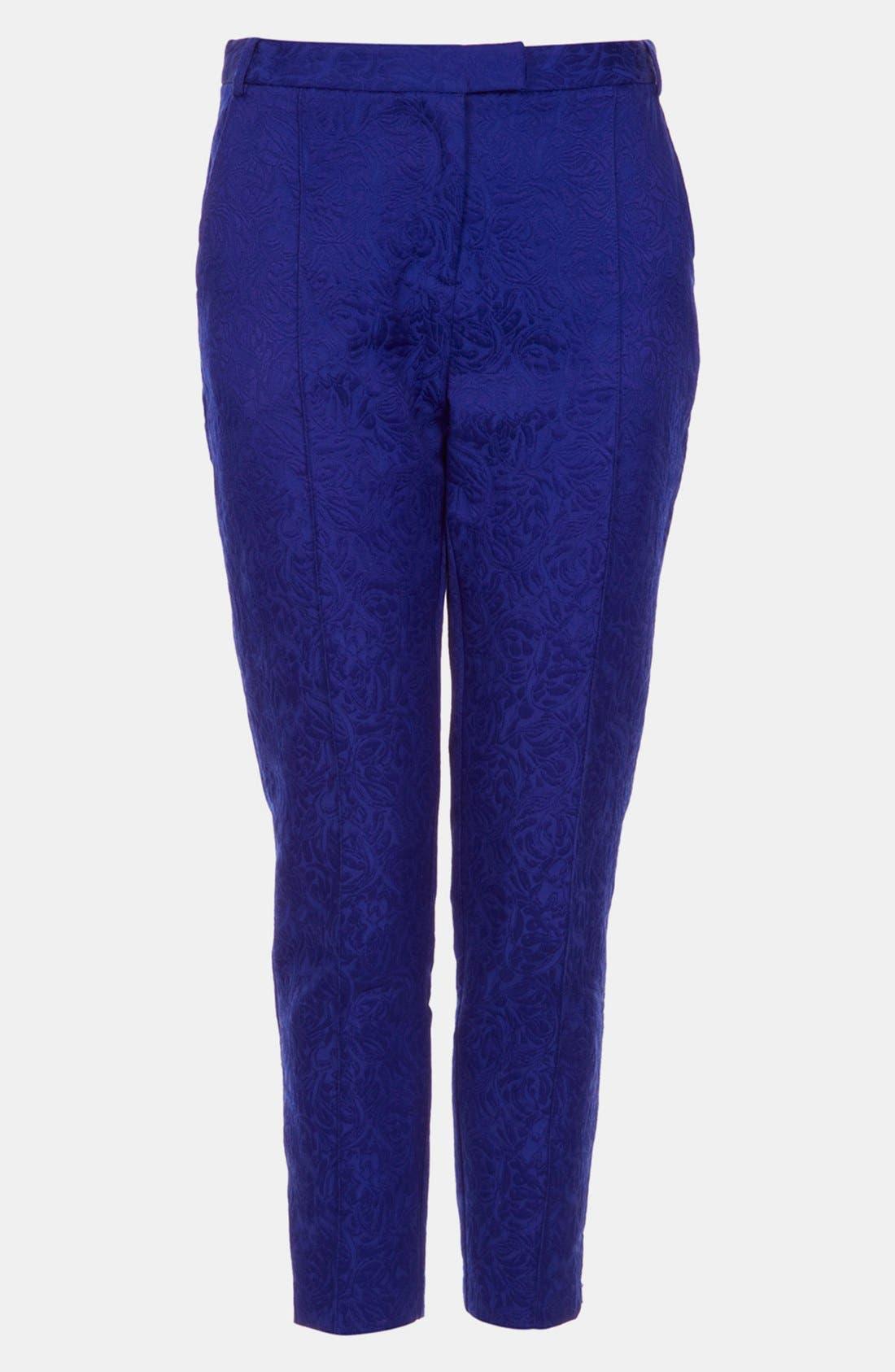 Jacquard Crop Cigarette Pants,                         Main,                         color, 430