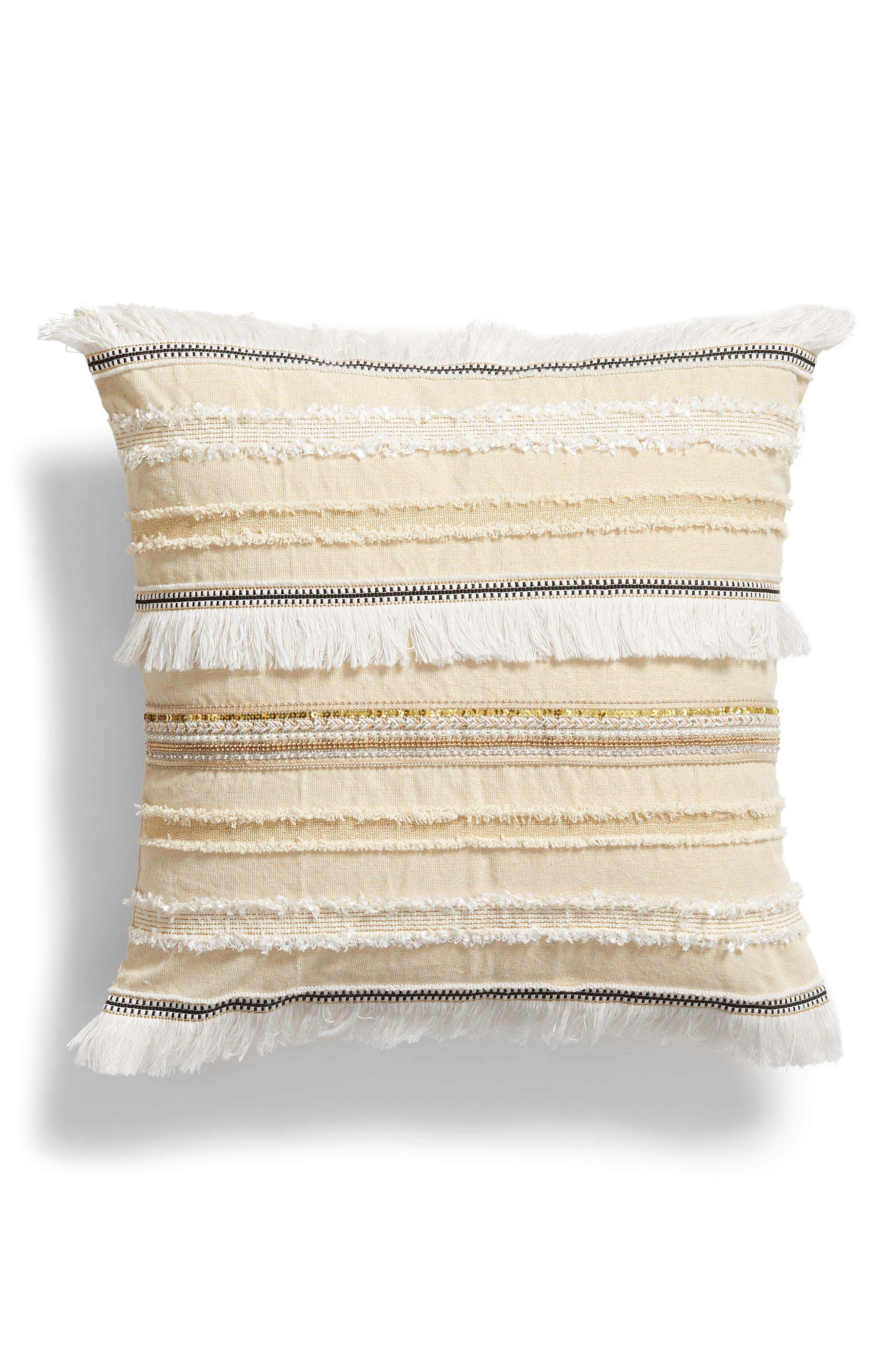 LEVTEX,                             Emory Trim Pillow,                             Main thumbnail 1, color,                             250