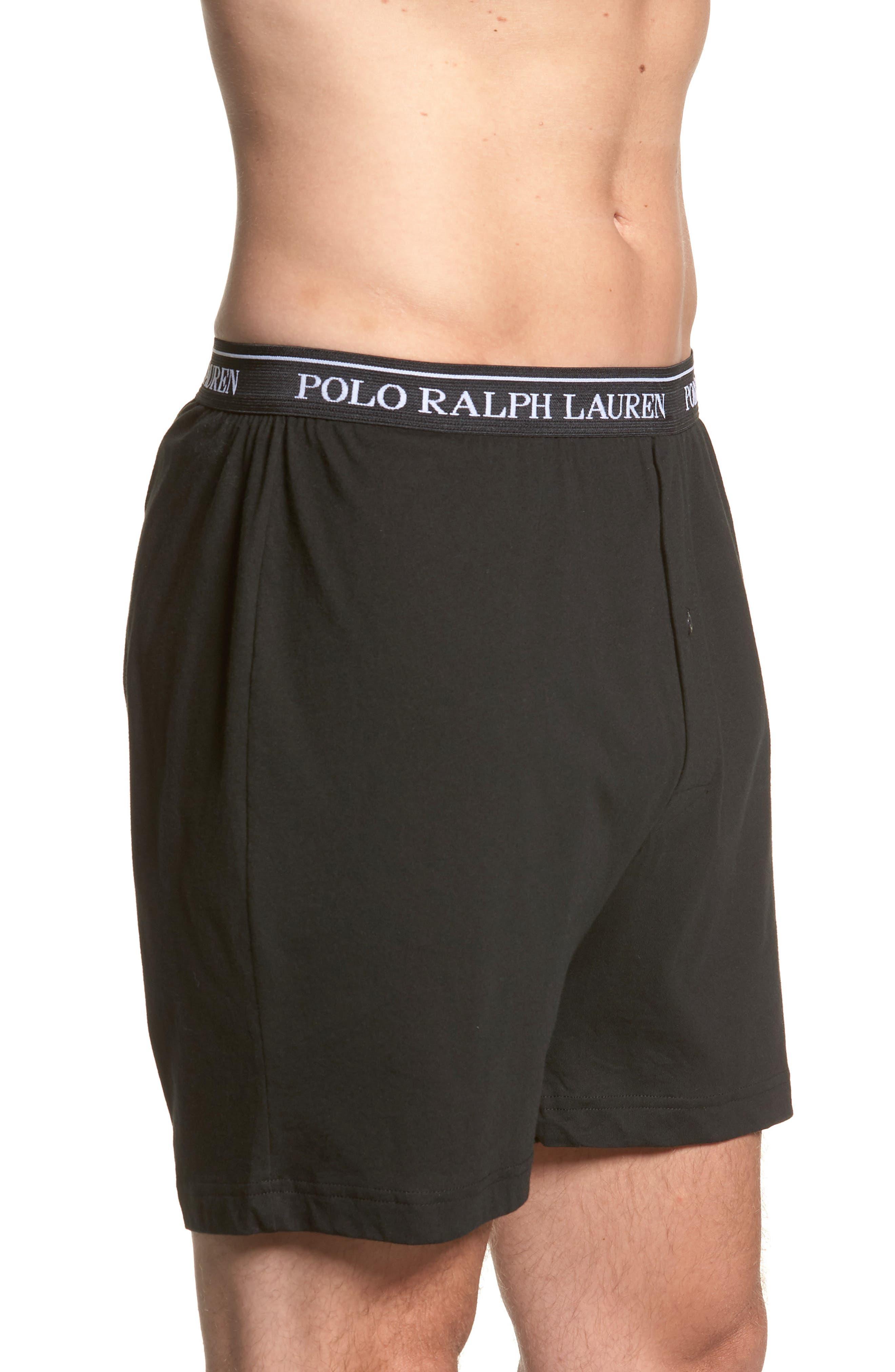 Polo Ralph Lauren 3-Pack Cotton Boxers,                             Alternate thumbnail 4, color,                             POLO BLACK