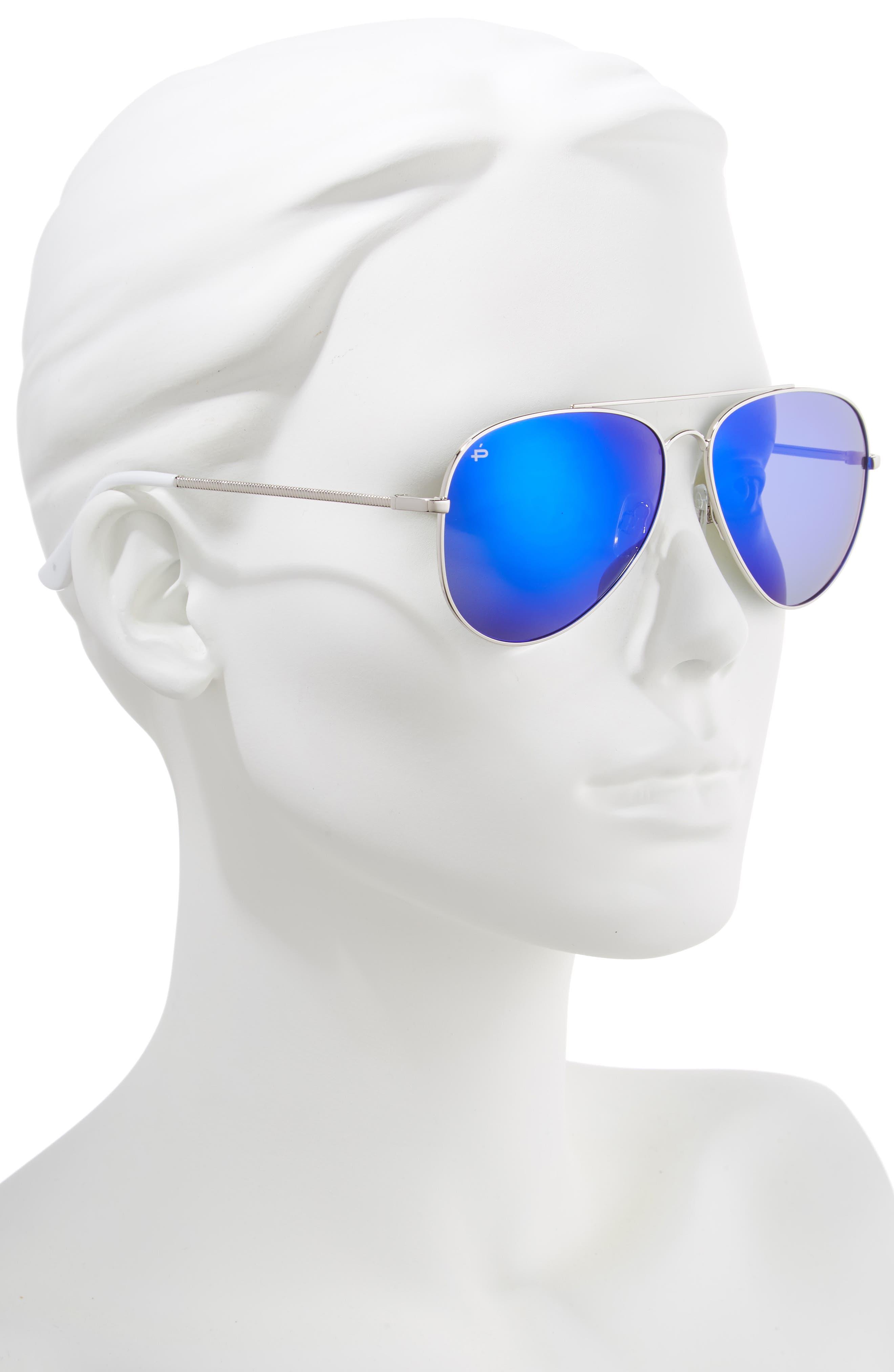Privé Revaux The Cali Polarized 59mm Sunglasses,                             Alternate thumbnail 2, color,                             NICKEL SILVER
