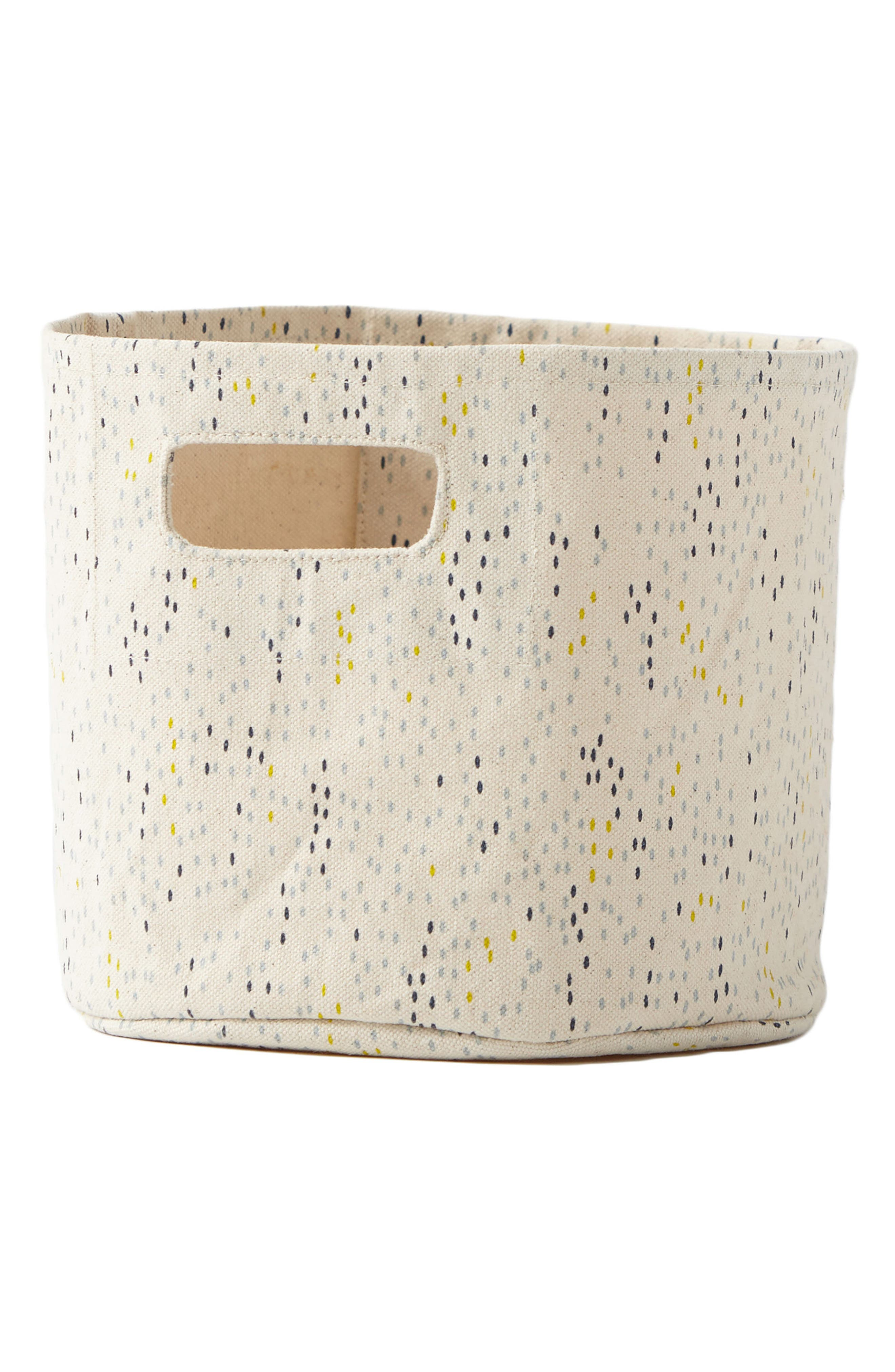 Showers Mini Canvas Bin,                         Main,                         color, 450