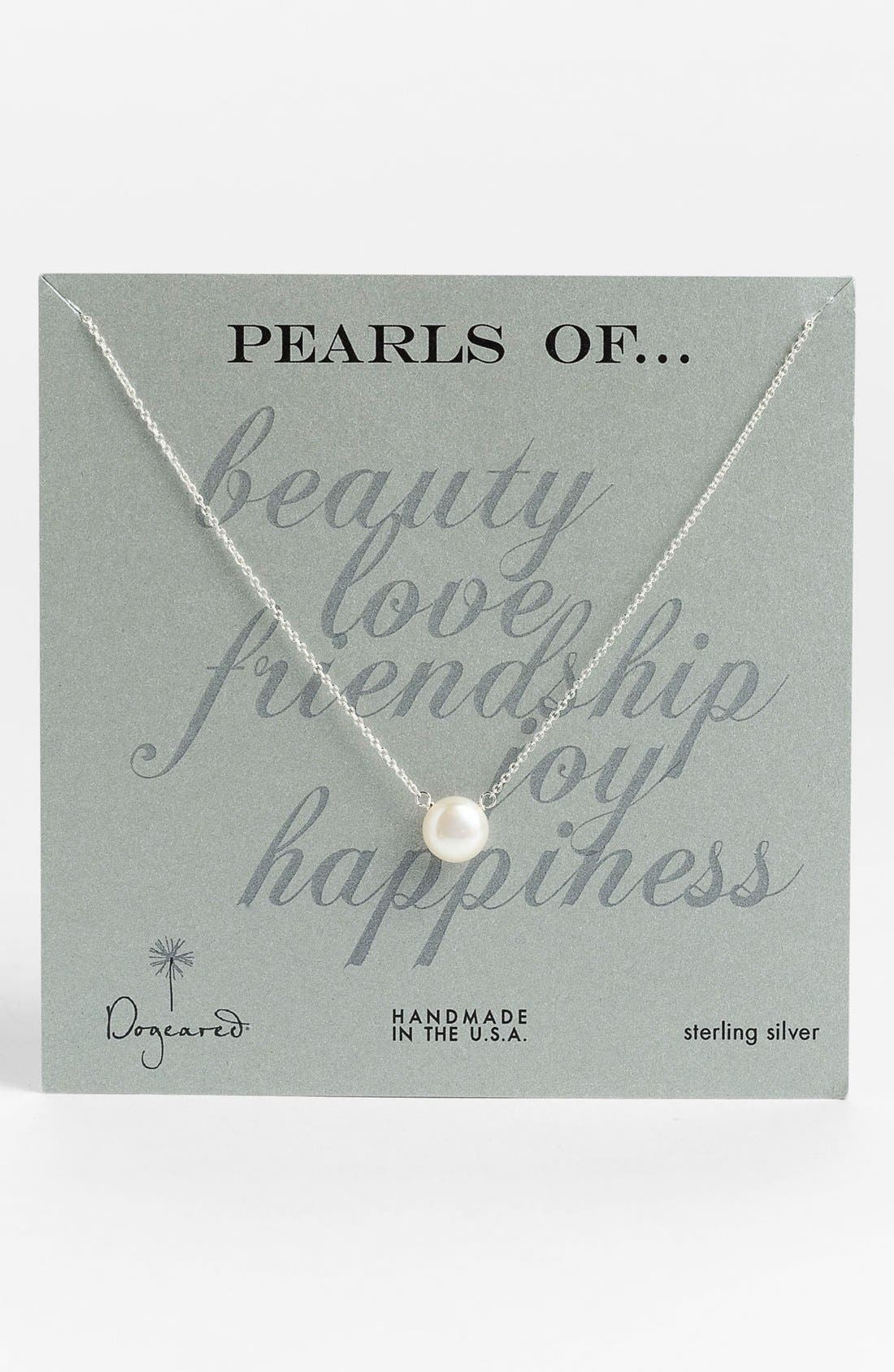 DOGEARED,                             Freshwater Pearl Pendant Necklace,                             Alternate thumbnail 2, color,                             040