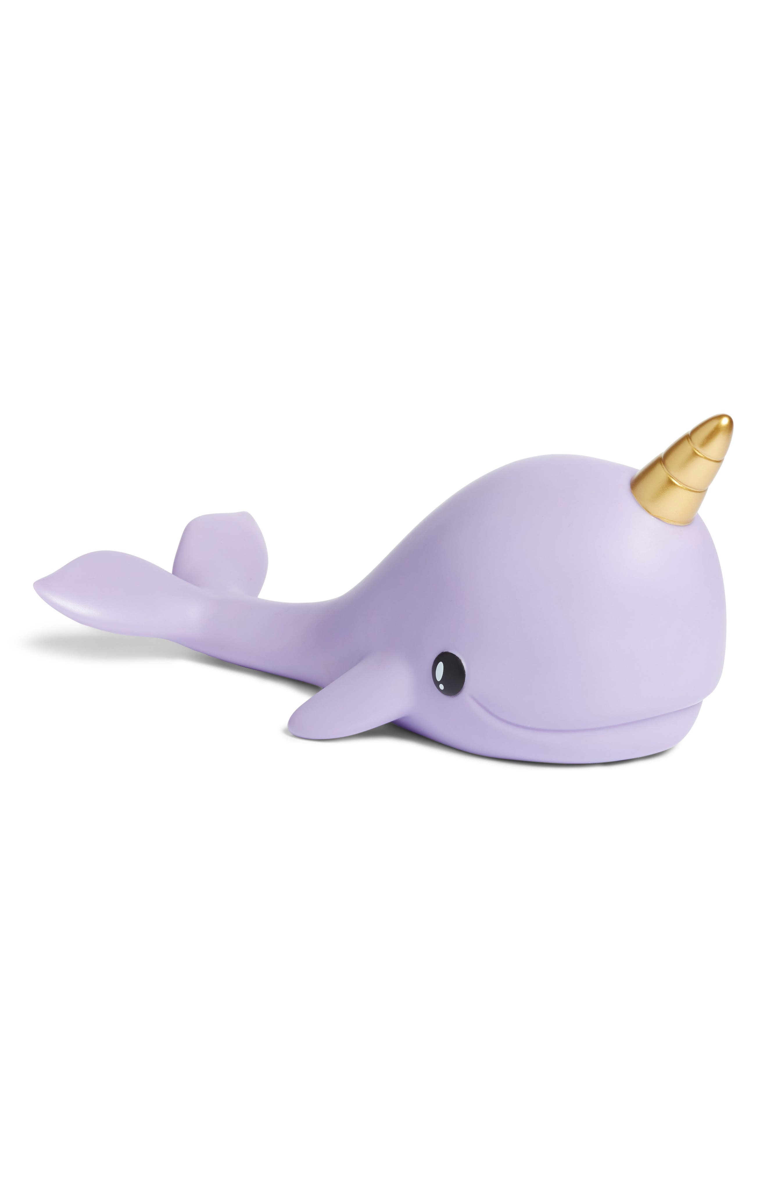 Narwhal Color Changing Night Light,                             Main thumbnail 1, color,                             PURPLE