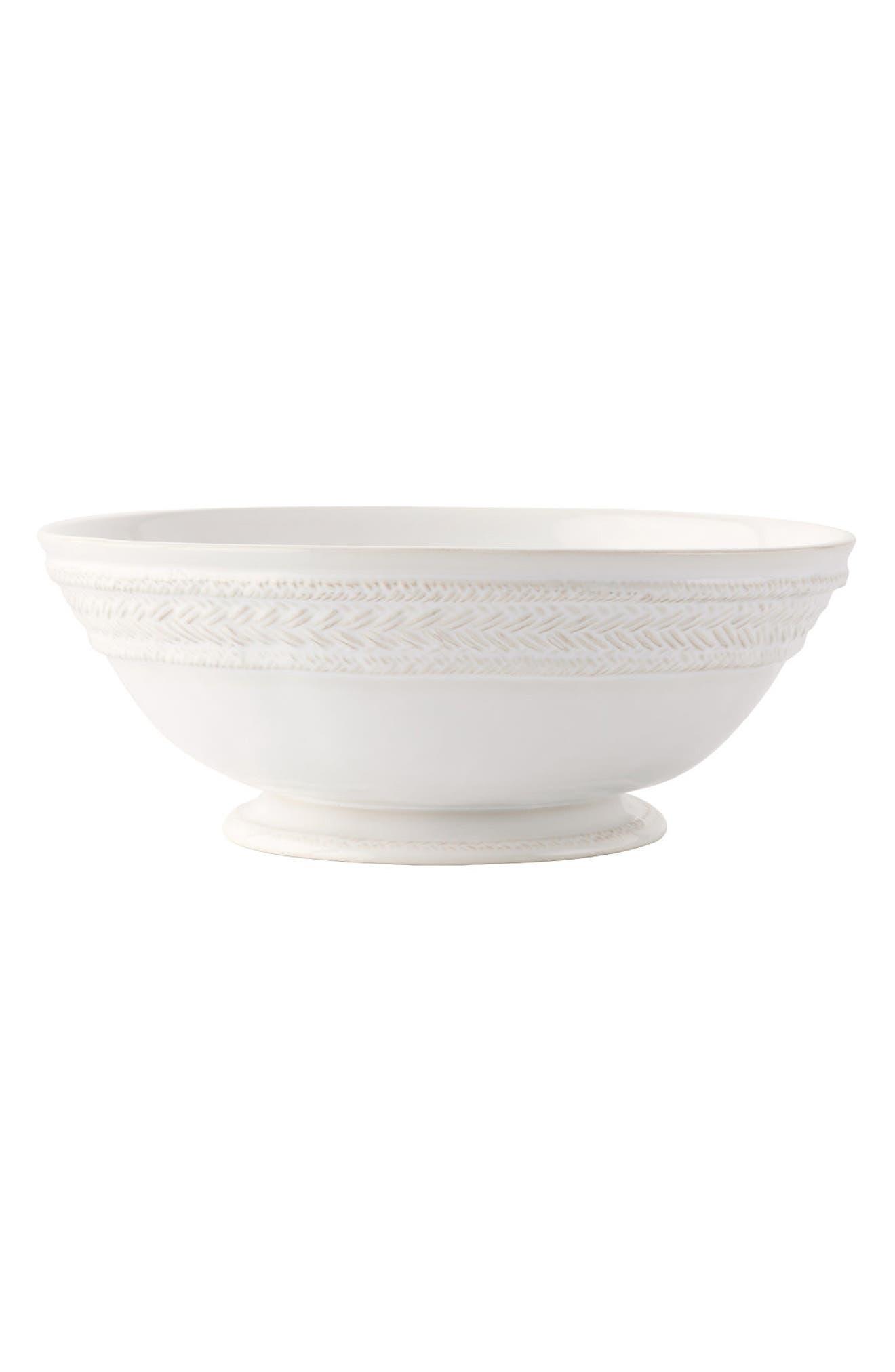 Le Panier Ceramic Fruit Bowl,                             Alternate thumbnail 2, color,                             WHITE
