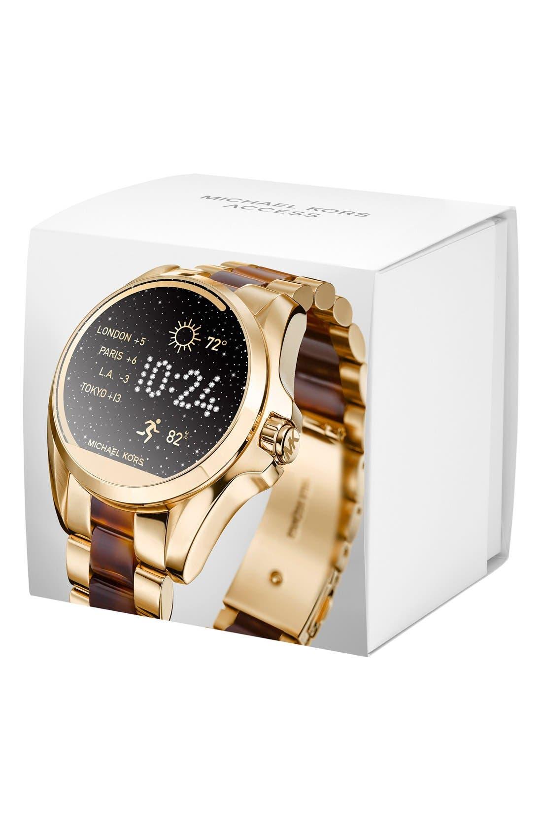 MICHAEL Michael Kors Bradshaw Access Bracelet Smart Watch, 45mm,                             Alternate thumbnail 22, color,