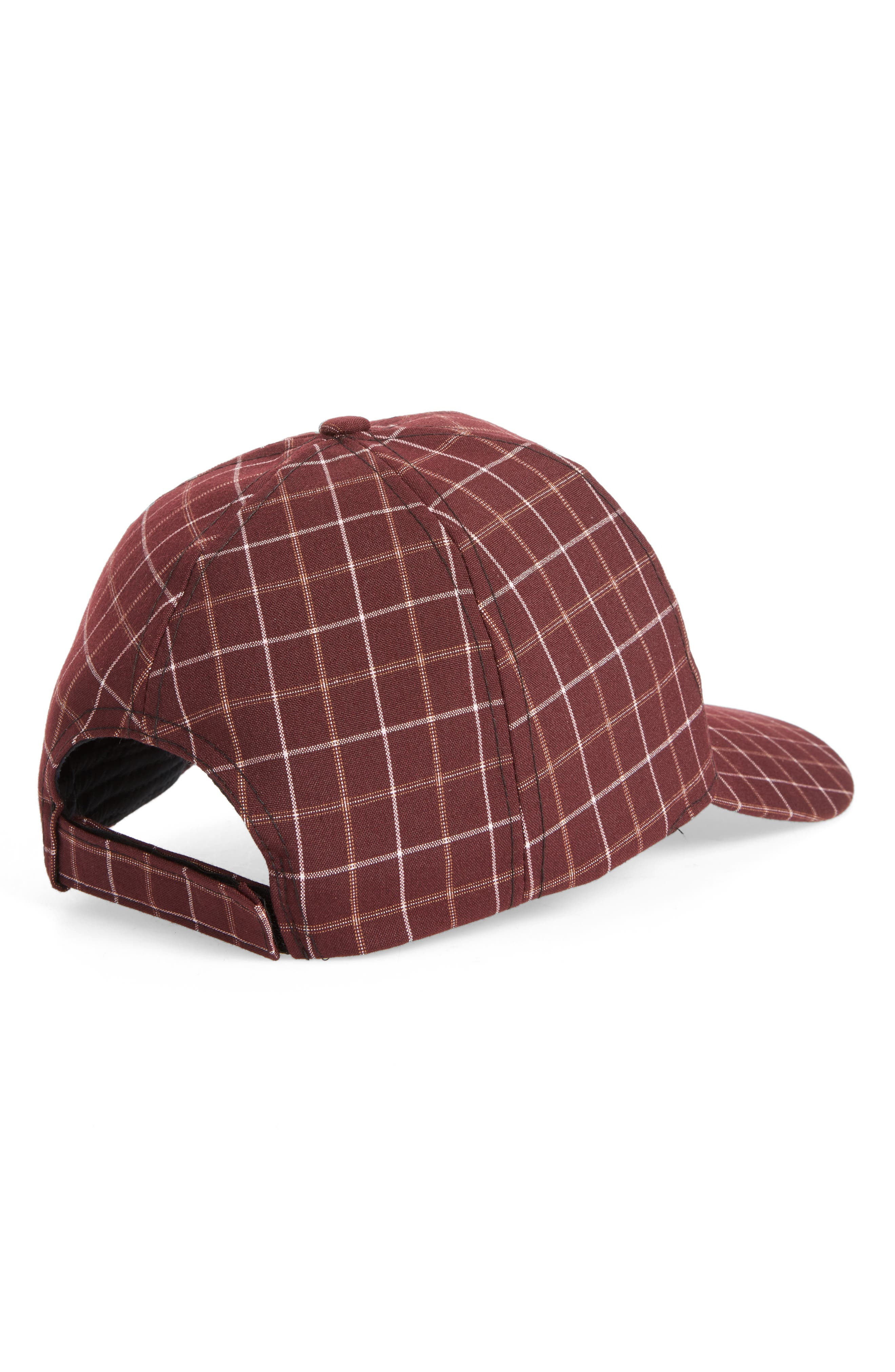Windowpane Baseball Cap,                             Alternate thumbnail 2, color,