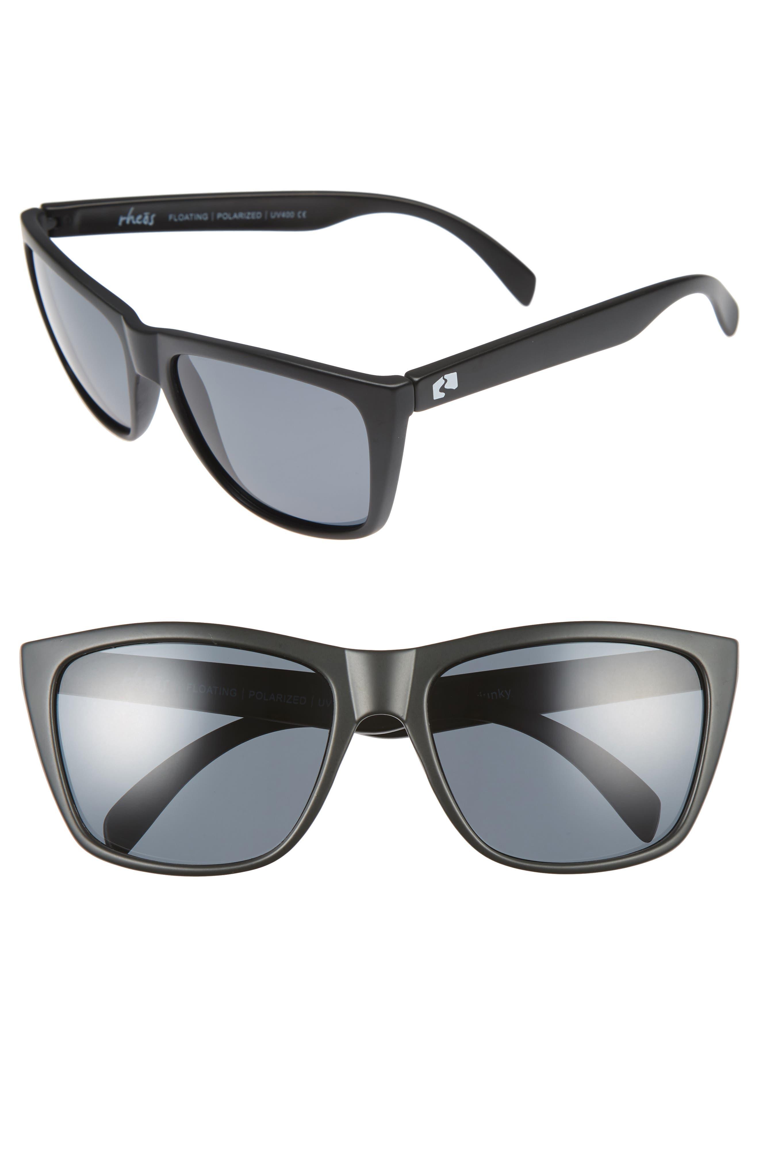 Sapelos Floating 61mm Polarized Sunglasses,                         Main,                         color, 001