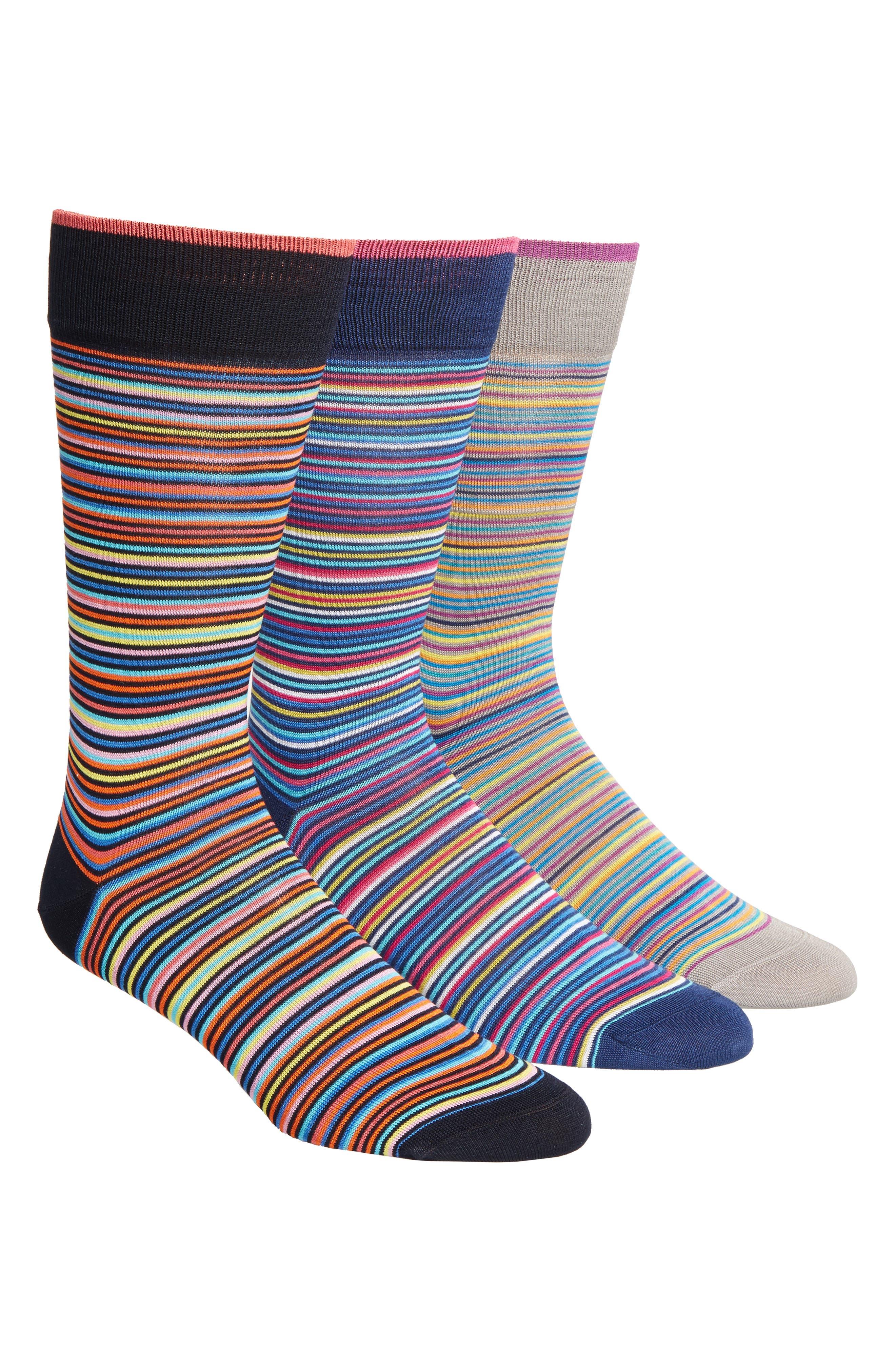 3-Pack Cotton Blend Socks,                             Main thumbnail 1, color,                             015