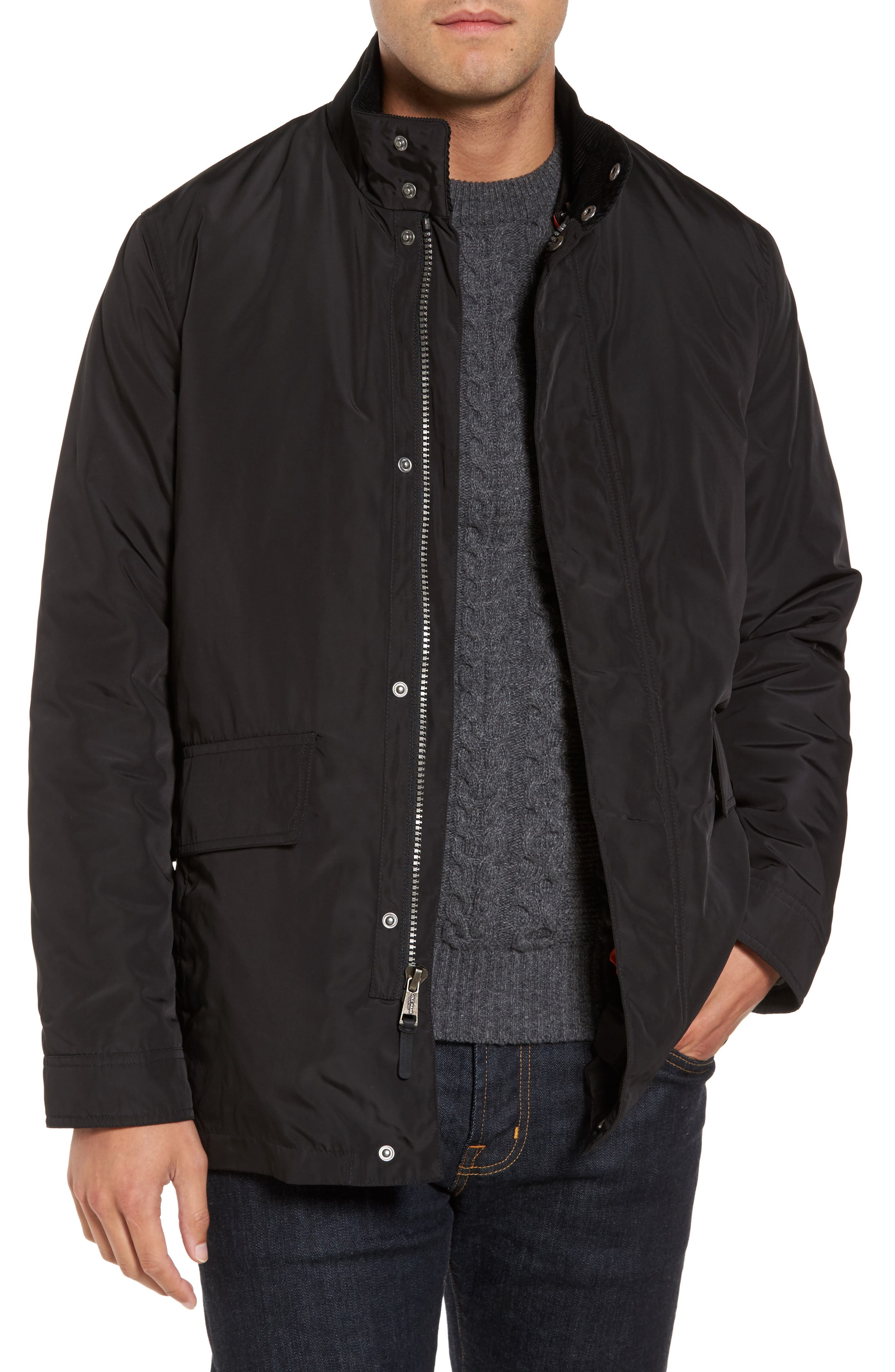 Coat with Removable Bomber Jacket,                             Main thumbnail 1, color,                             001