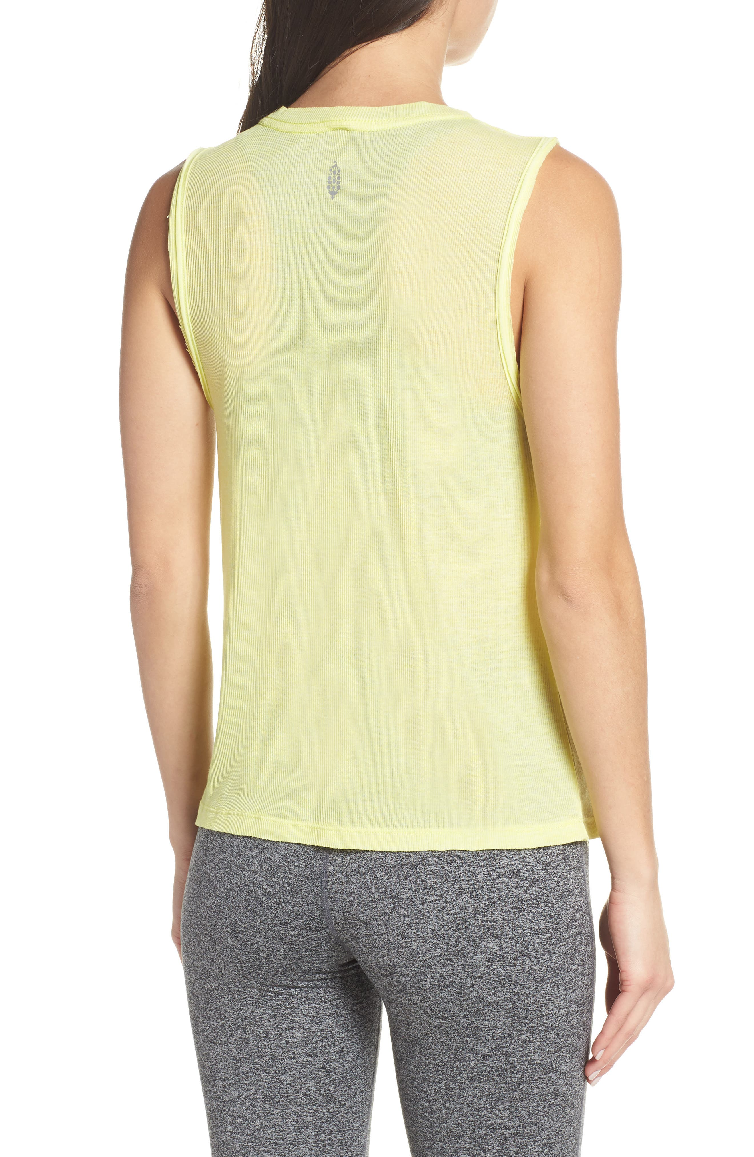 FREE PEOPLE MOVEMENT,                             Om Tank,                             Alternate thumbnail 2, color,                             LIME
