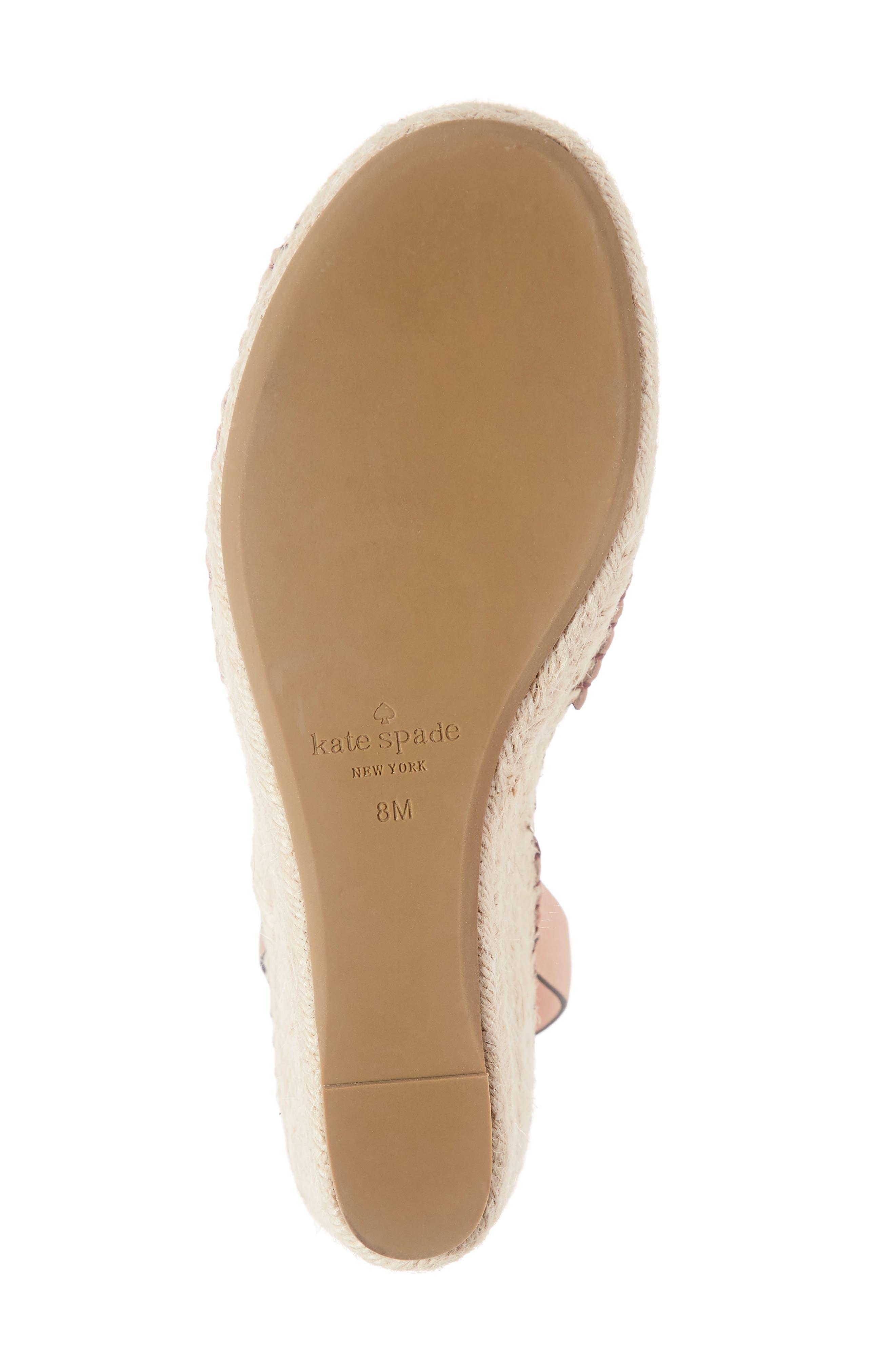 felipa wedge sandal,                             Alternate thumbnail 6, color,                             CONCH SHELL NUBUK