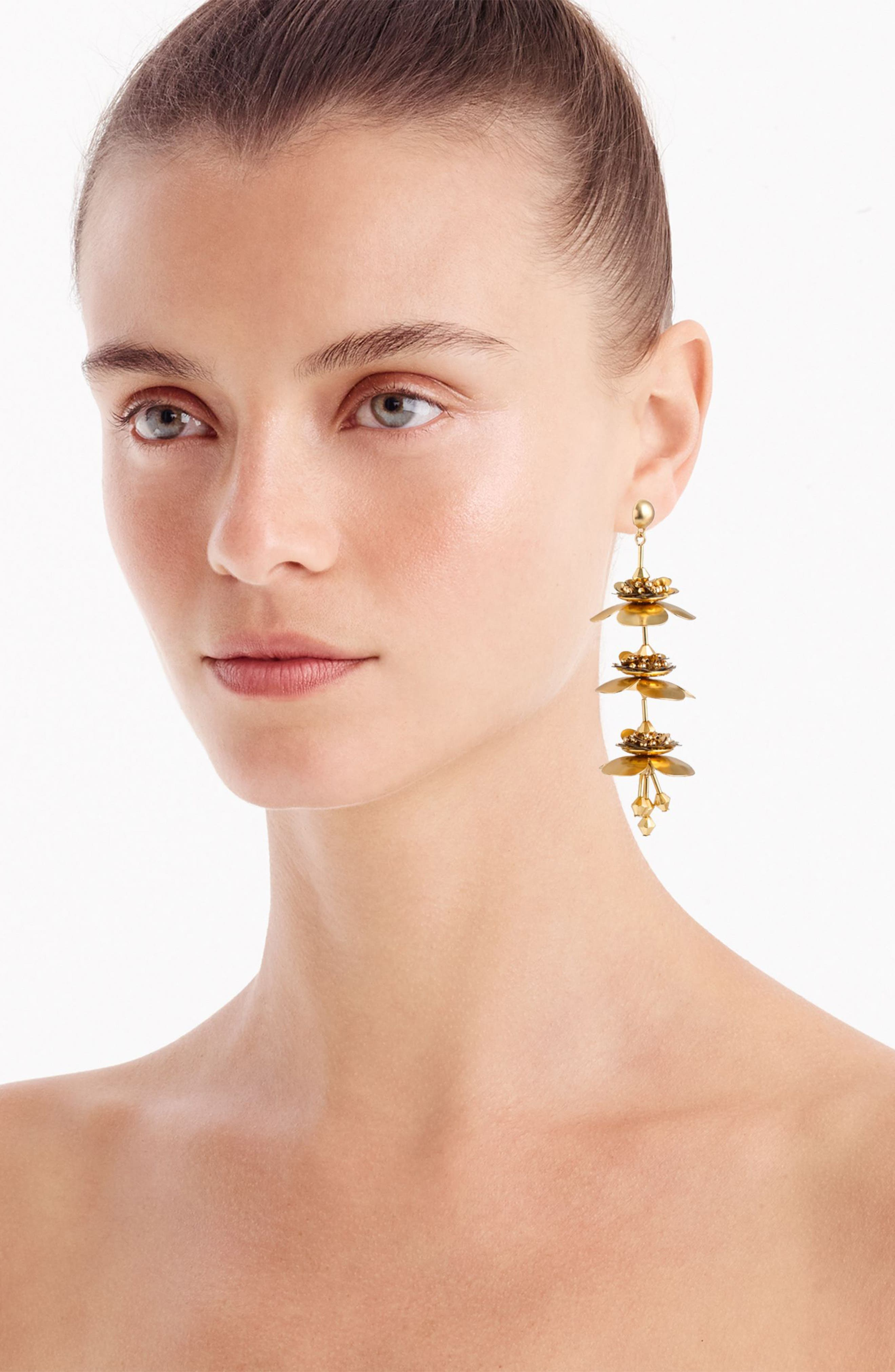 Bead & Blossom Earrings,                             Alternate thumbnail 4, color,