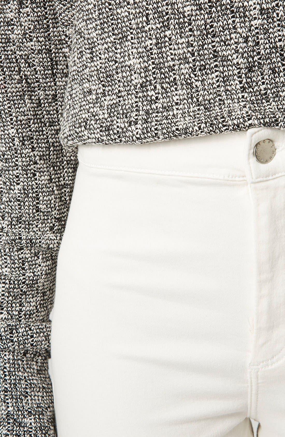 Moto 'Joni' Skinny Jeans,                             Alternate thumbnail 4, color,                             100