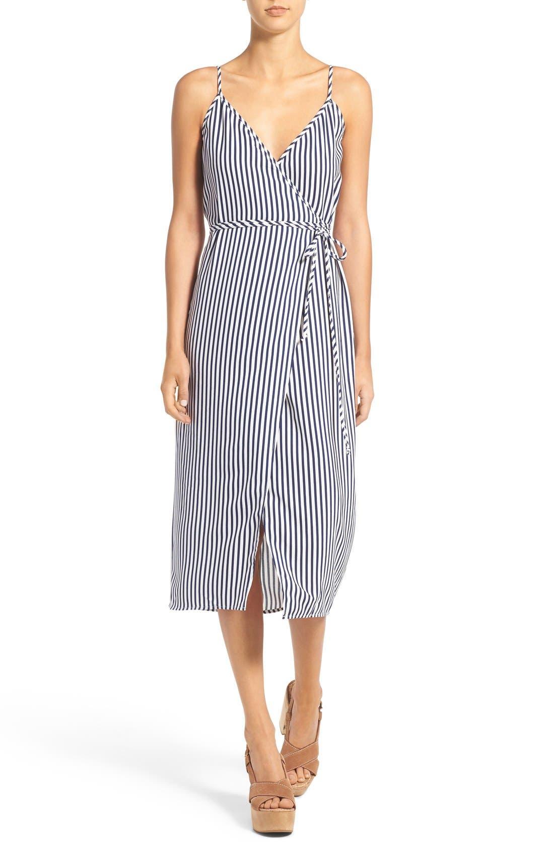 Wrap Midi Dress,                             Main thumbnail 4, color,