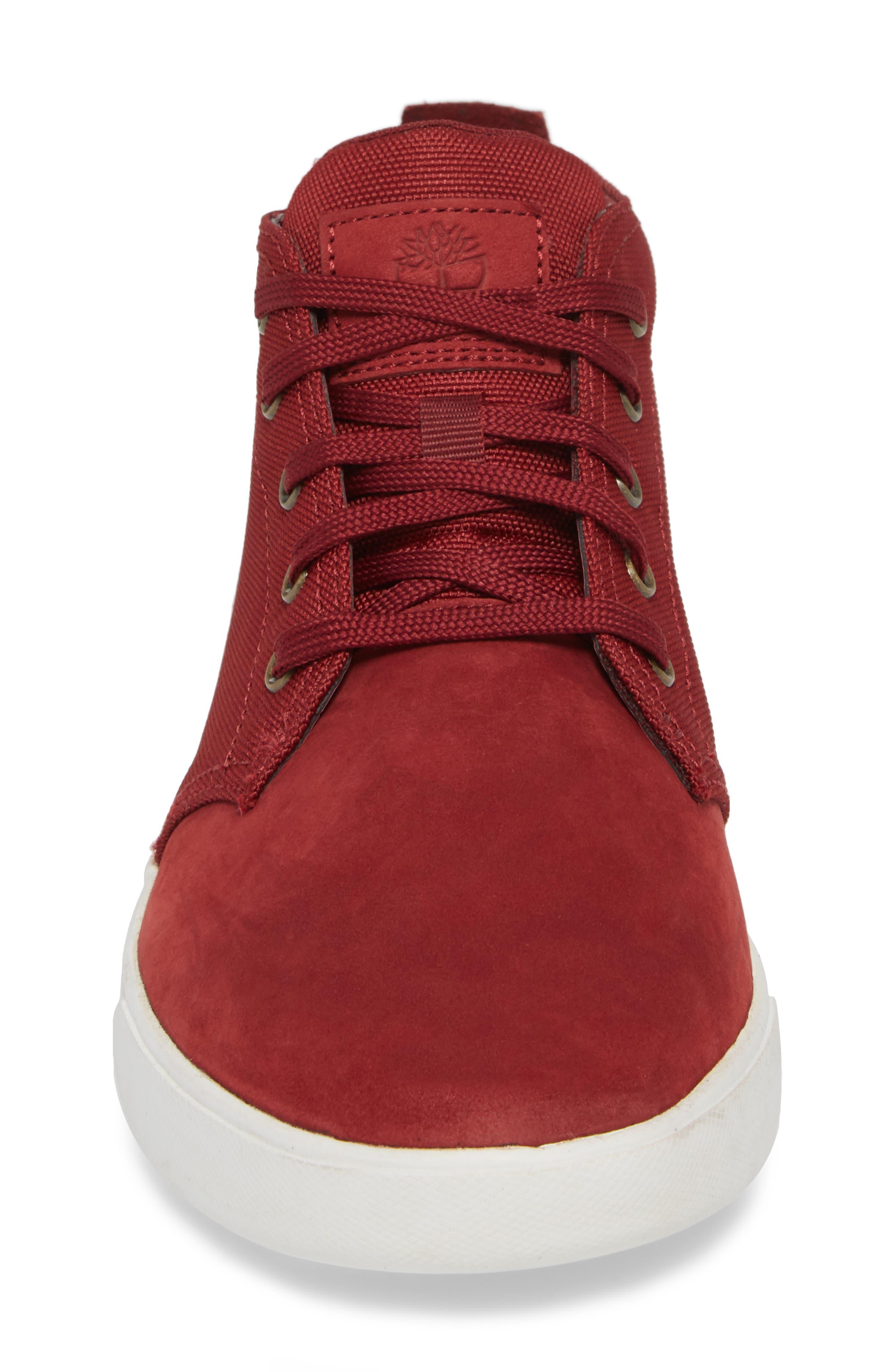 Earthkeepers<sup>™</sup> 'Groveton' Chukka Sneaker,                             Alternate thumbnail 4, color,                             POMEGRANATE NUBUCK