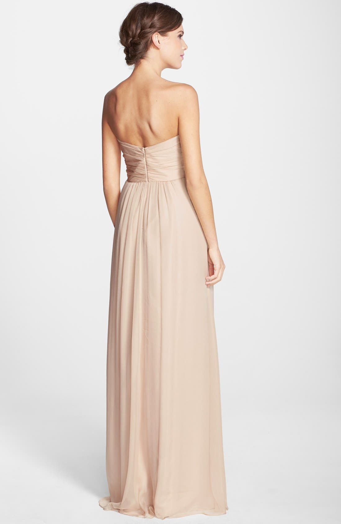 Strapless Crinkle Chiffon Gown,                             Alternate thumbnail 26, color,