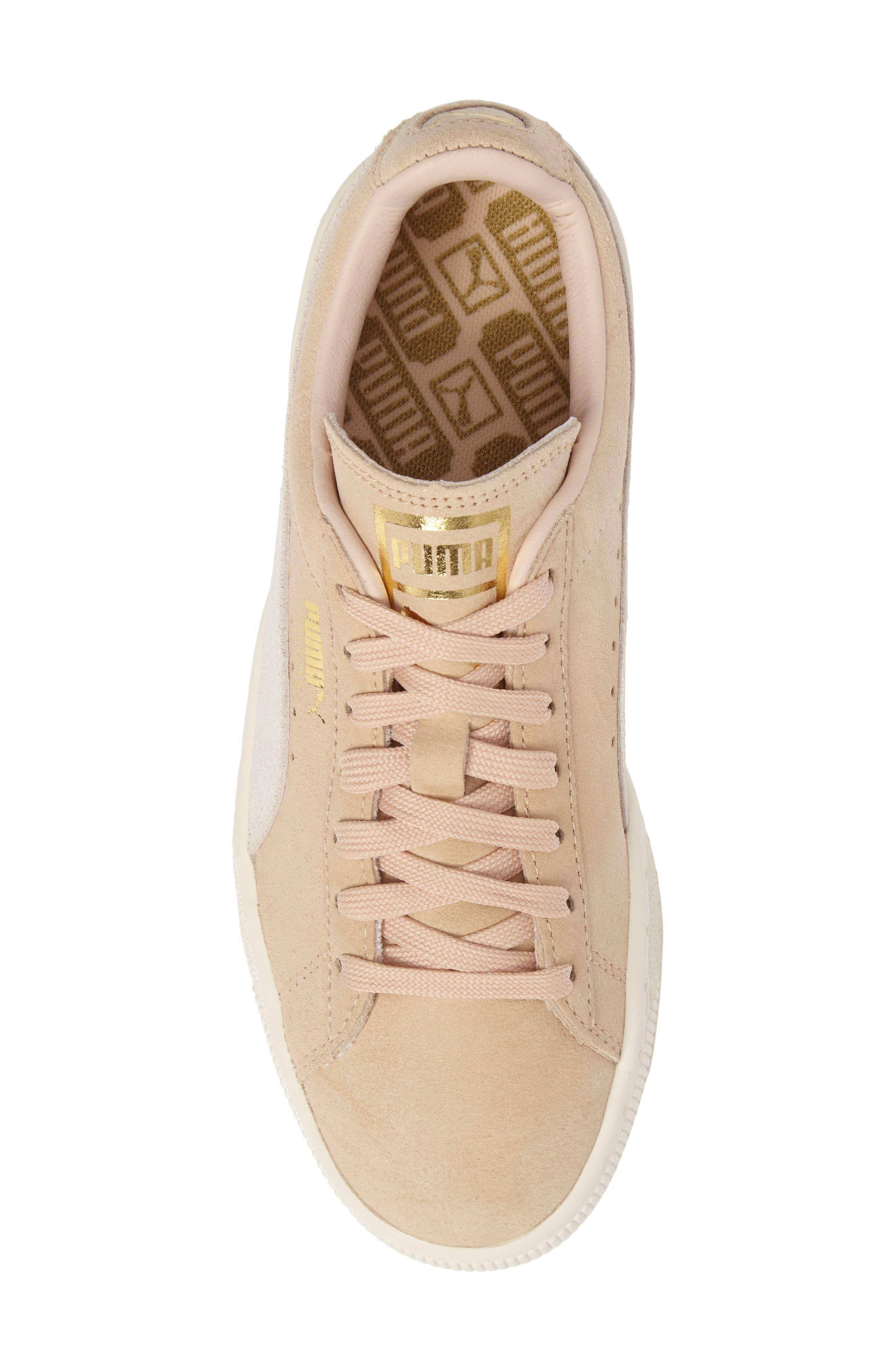 Suede Classic Shine Sneaker,                             Alternate thumbnail 5, color,                             250