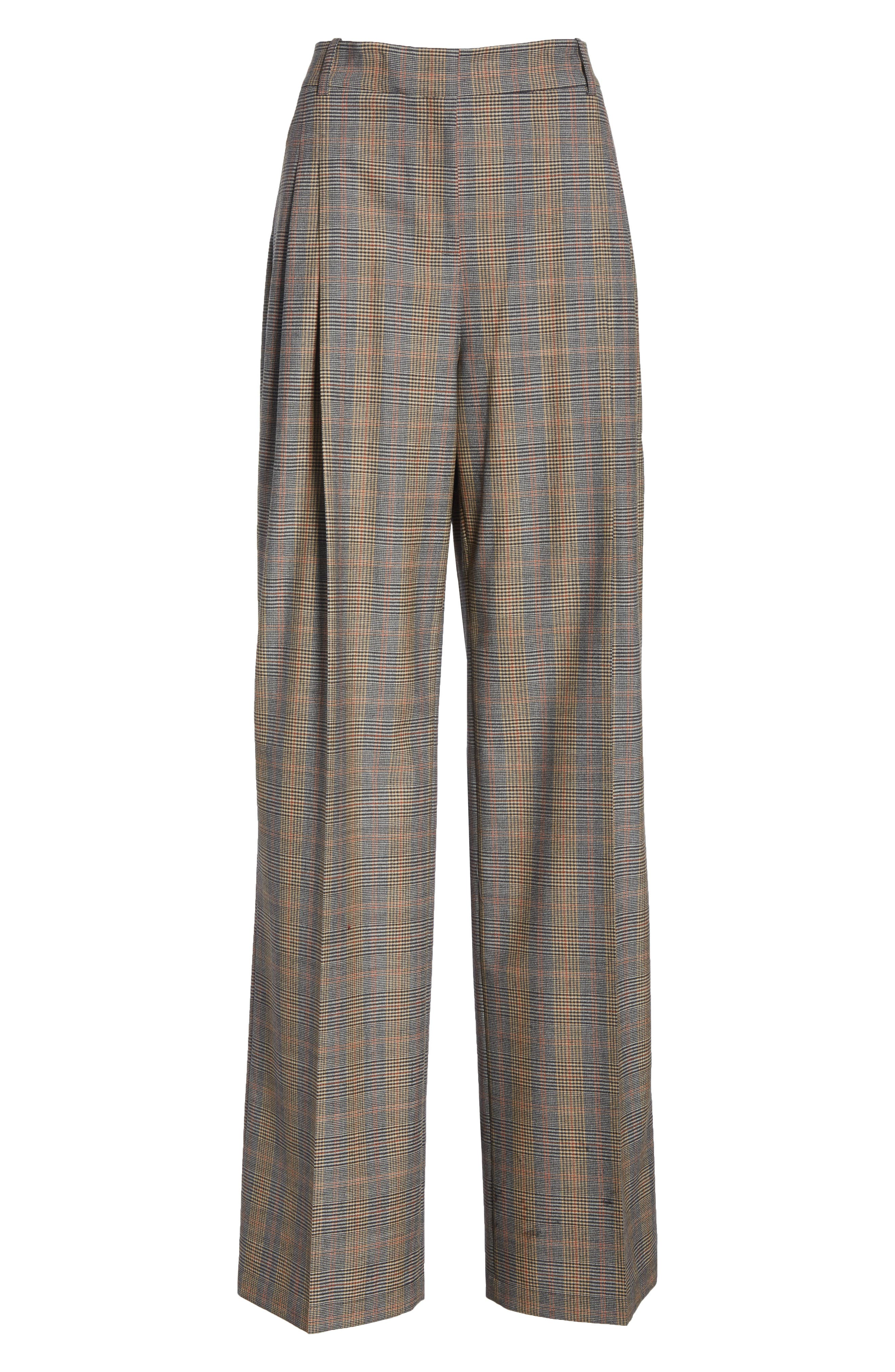 Quincy Stretch Wool Pants,                             Alternate thumbnail 6, color,                             SUNSTONE MULTI