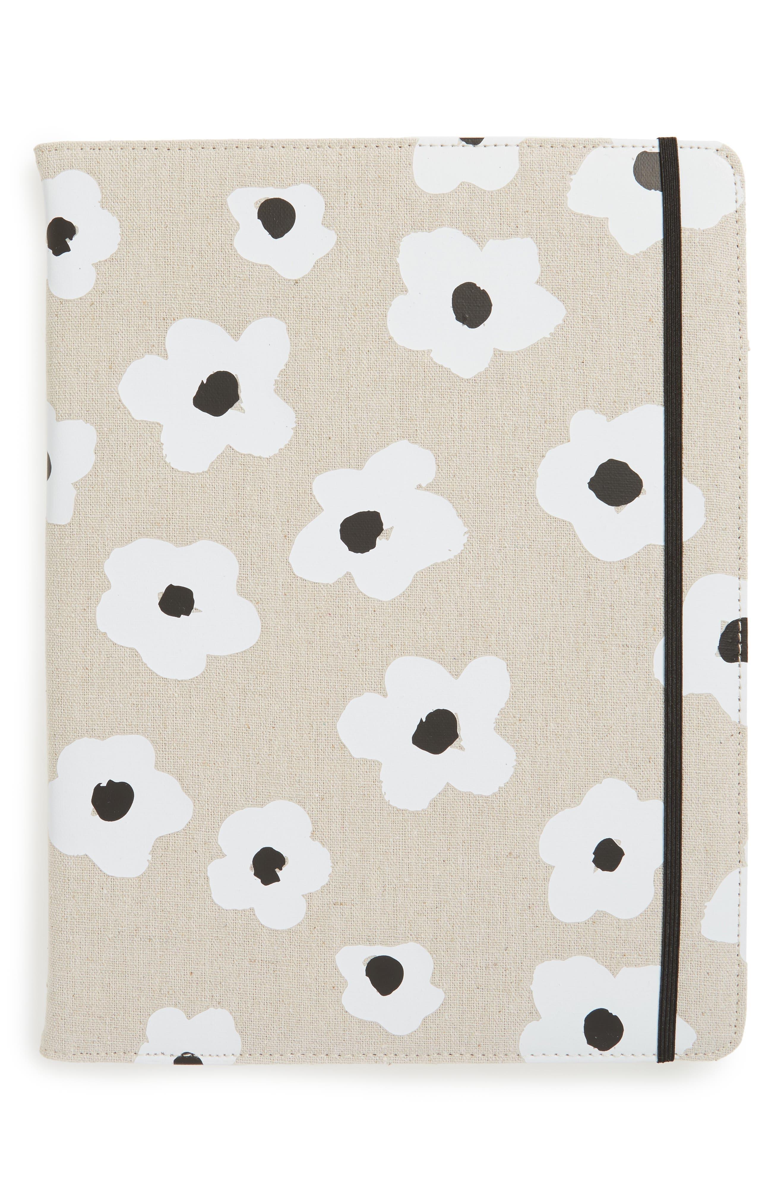 faye floral notepad folio,                             Main thumbnail 1, color,                             250