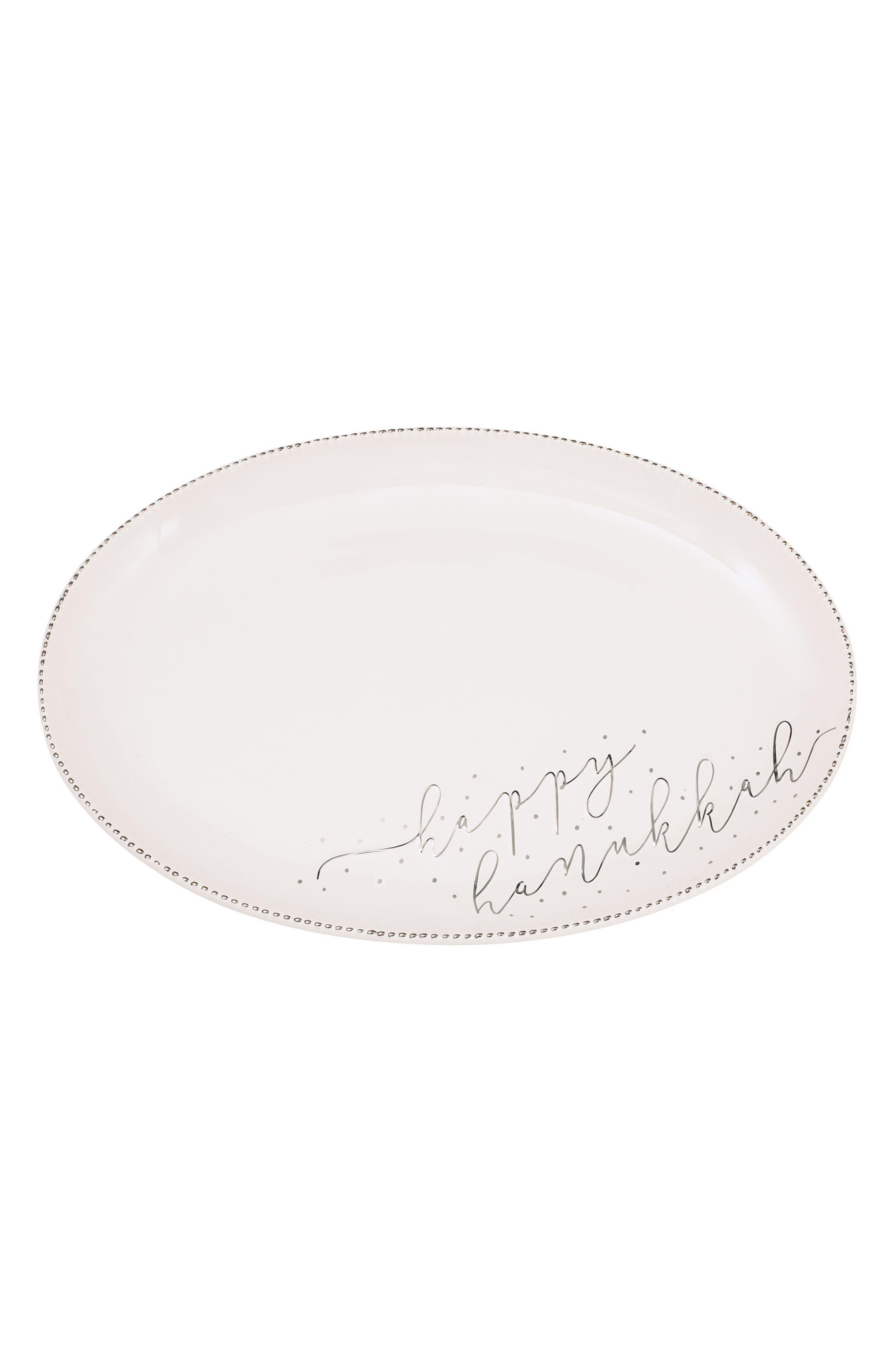 Hanukkah Stoneware Serving Platter,                             Main thumbnail 1, color,