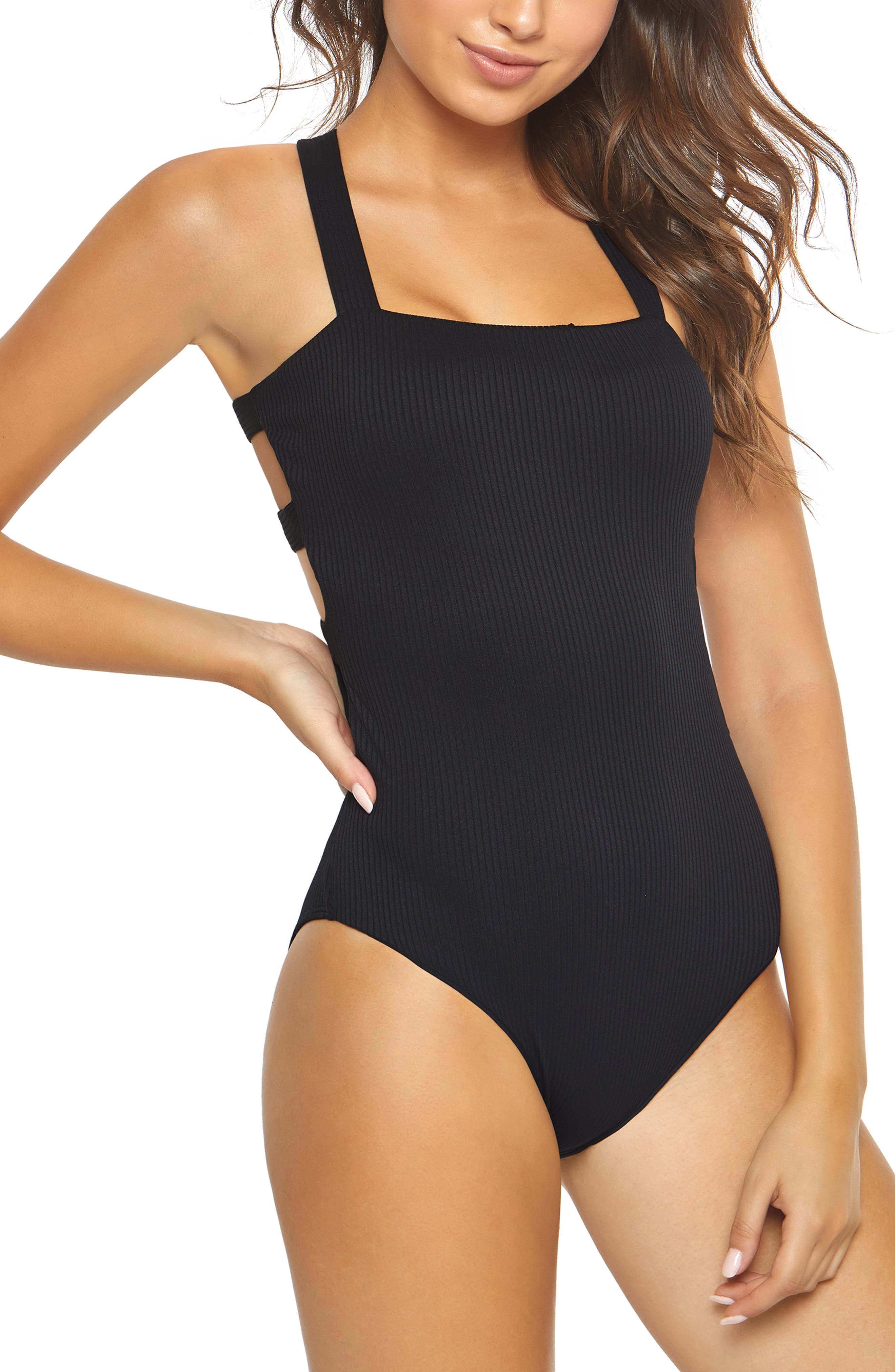 Pilyq Ribbed One-Piece Swimsuit, Blue