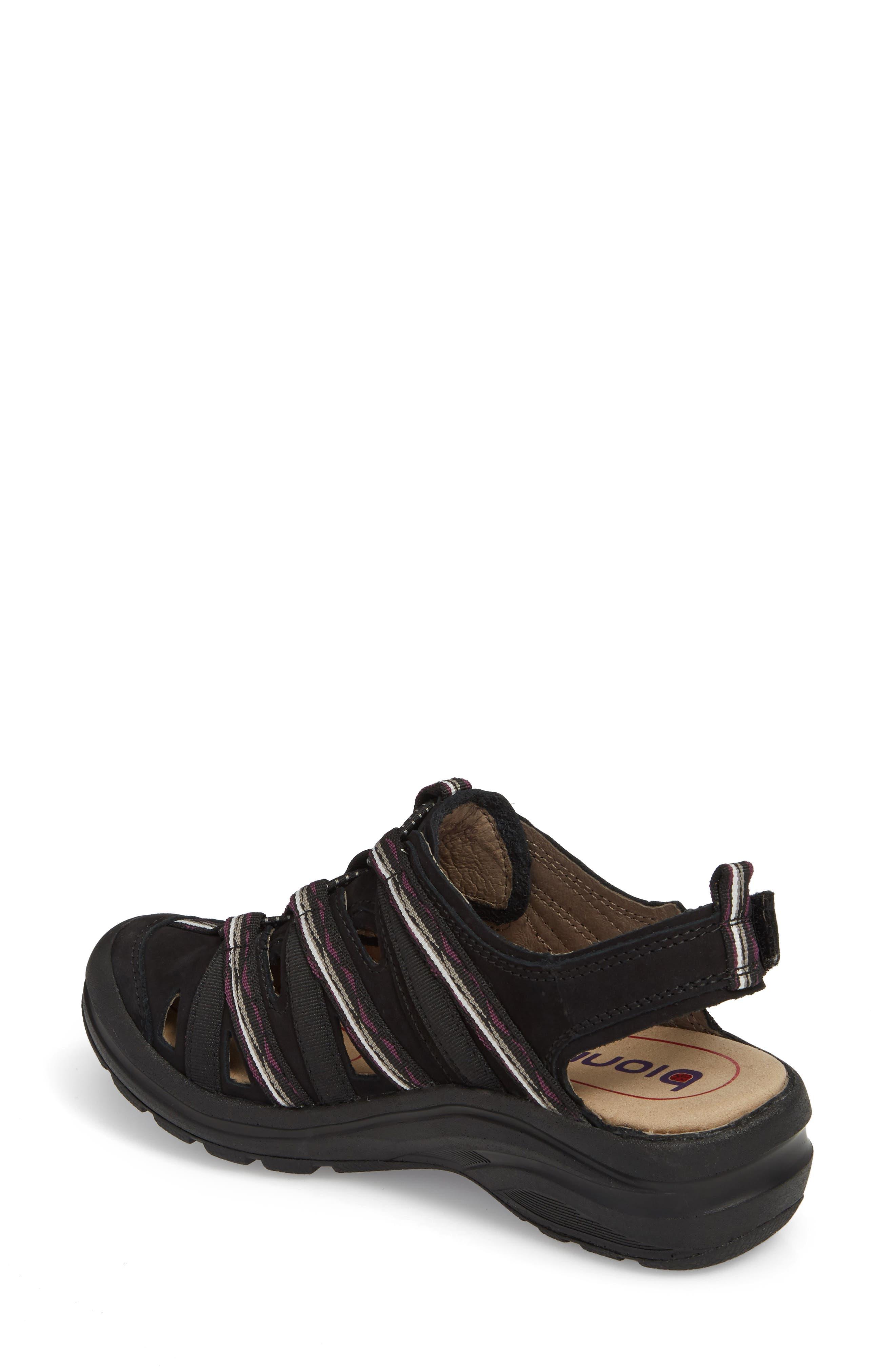 Malabar Sport Sandal,                             Alternate thumbnail 2, color,                             BLACK LEATHER