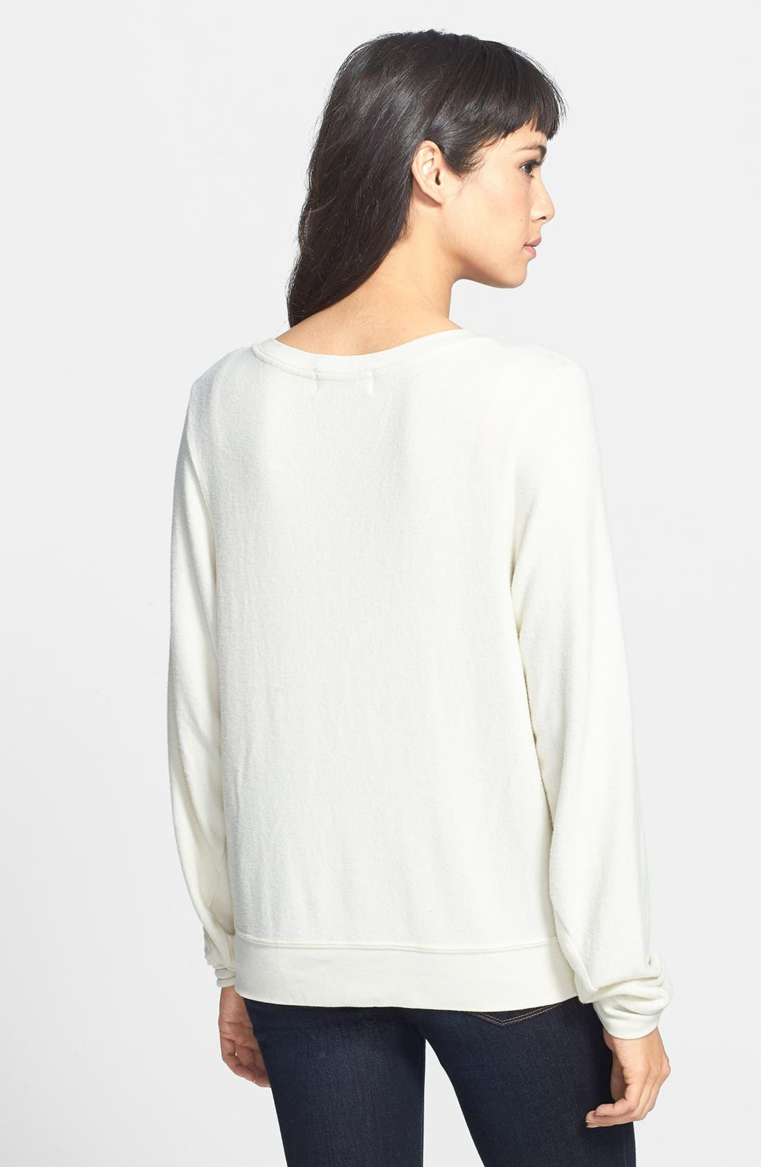 WILDFOX,                             'Say Yes' Sweater,                             Alternate thumbnail 3, color,                             110