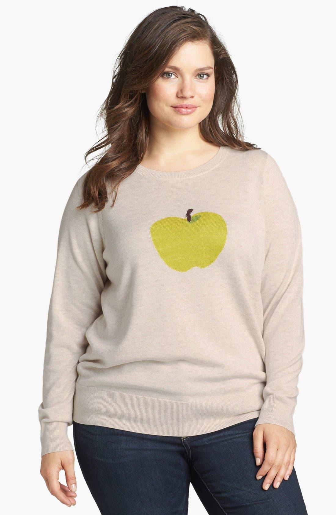 Intarsia Crewneck Sweater,                             Main thumbnail 1, color,