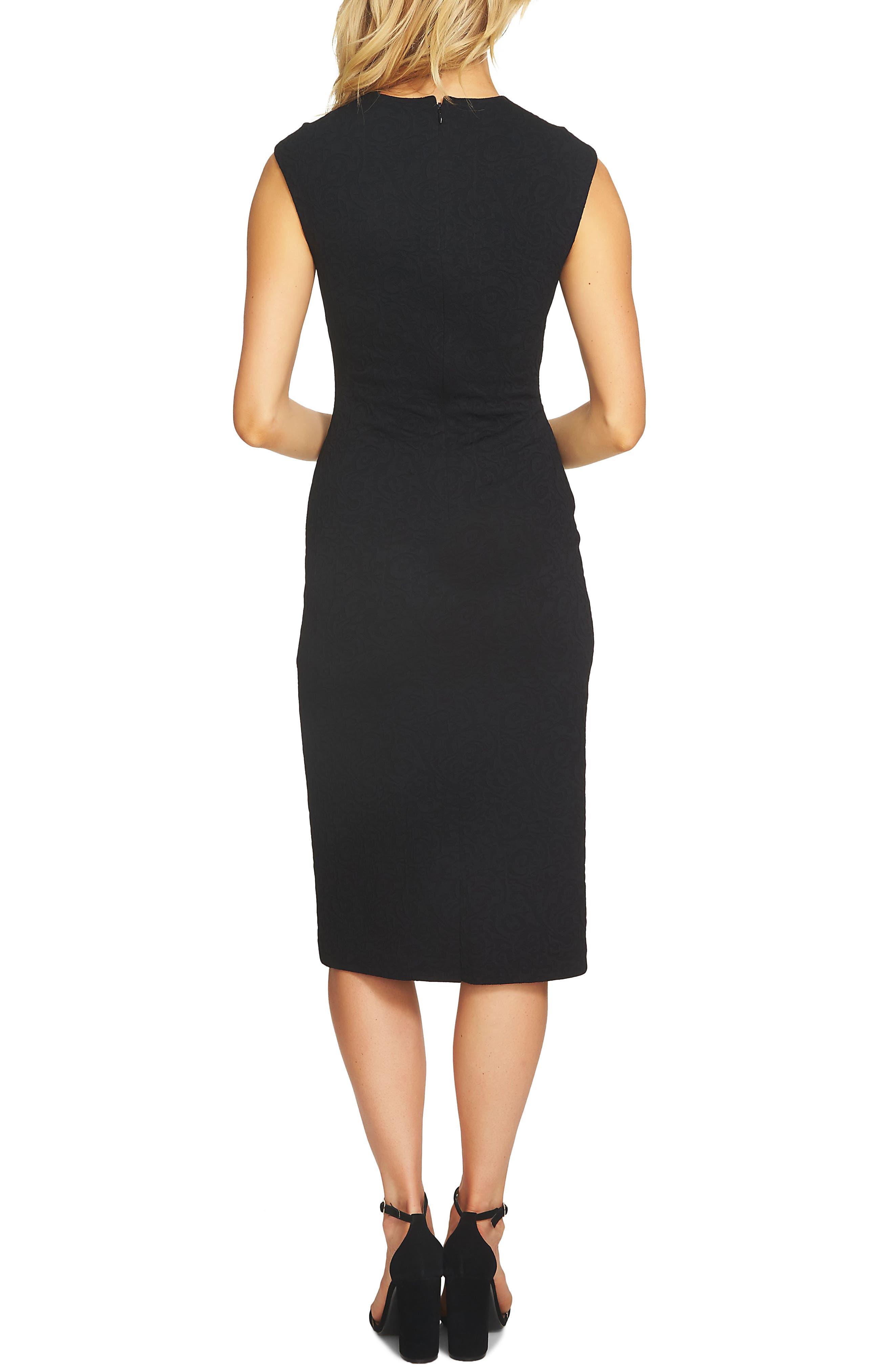 Paisley Jacquard Sheath Dress,                             Alternate thumbnail 4, color,