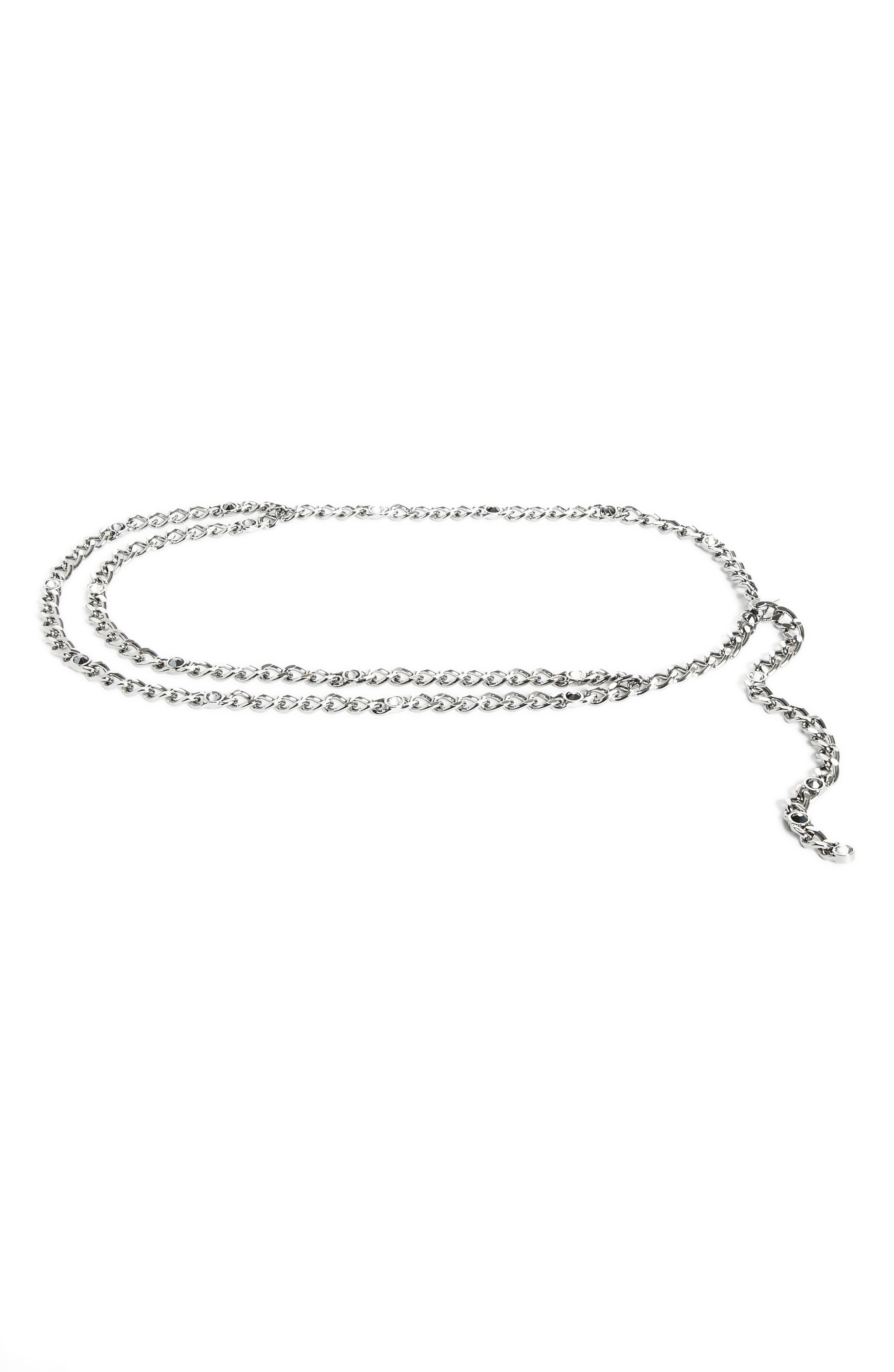 Swarovski Crystal Chain Belt,                             Main thumbnail 1, color,                             040