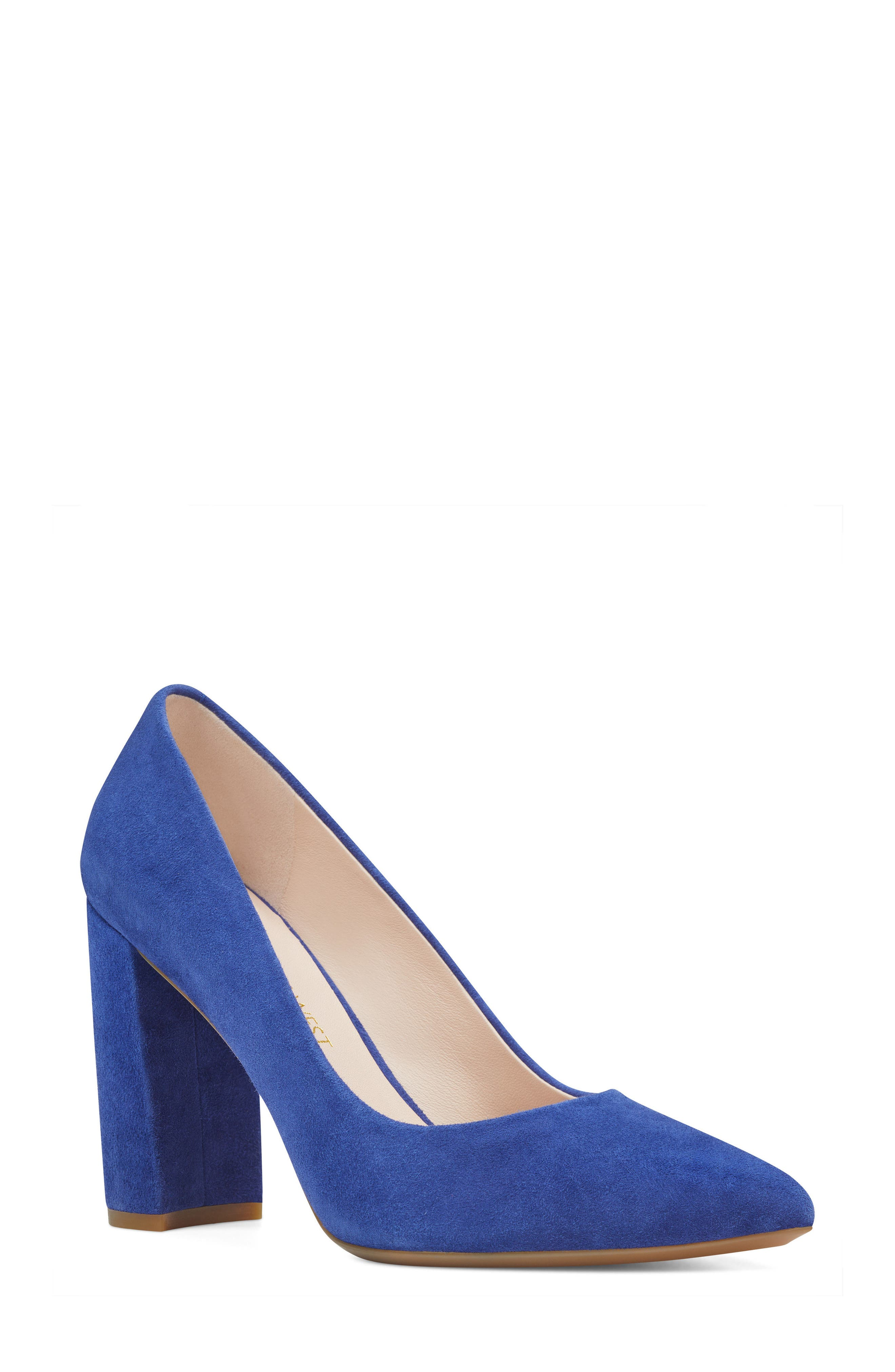 Astoria Pump,                             Main thumbnail 1, color,                             DARK BLUE SUEDE