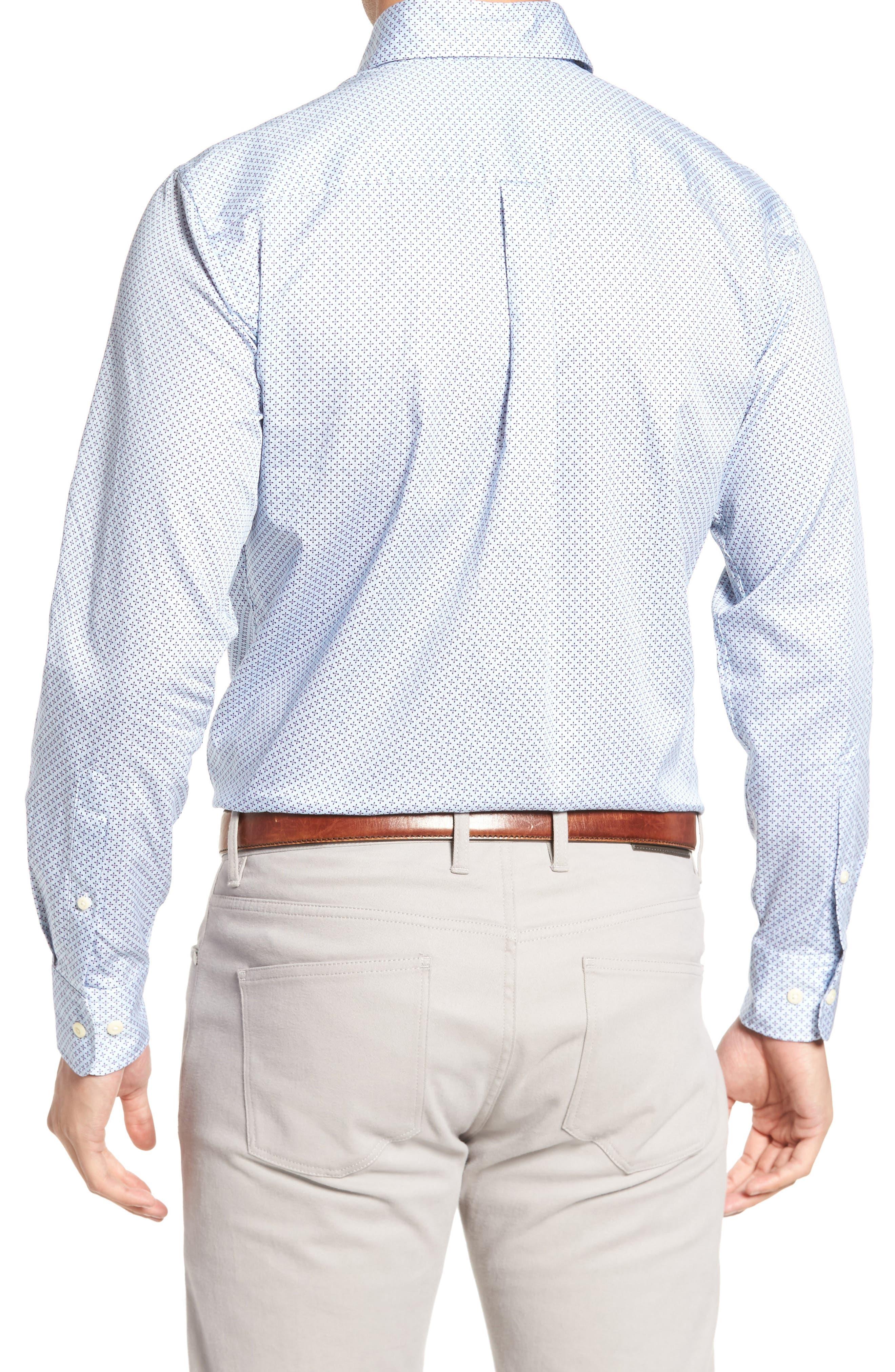 Flashback Classic Fit Print Sport Shirt,                             Alternate thumbnail 2, color,