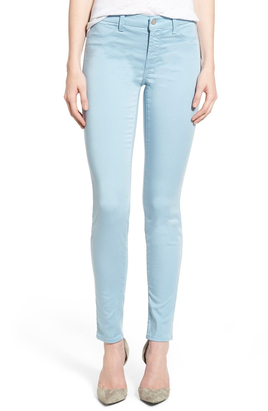 High Waist Ankle Super Skinny Jeans,                             Main thumbnail 14, color,