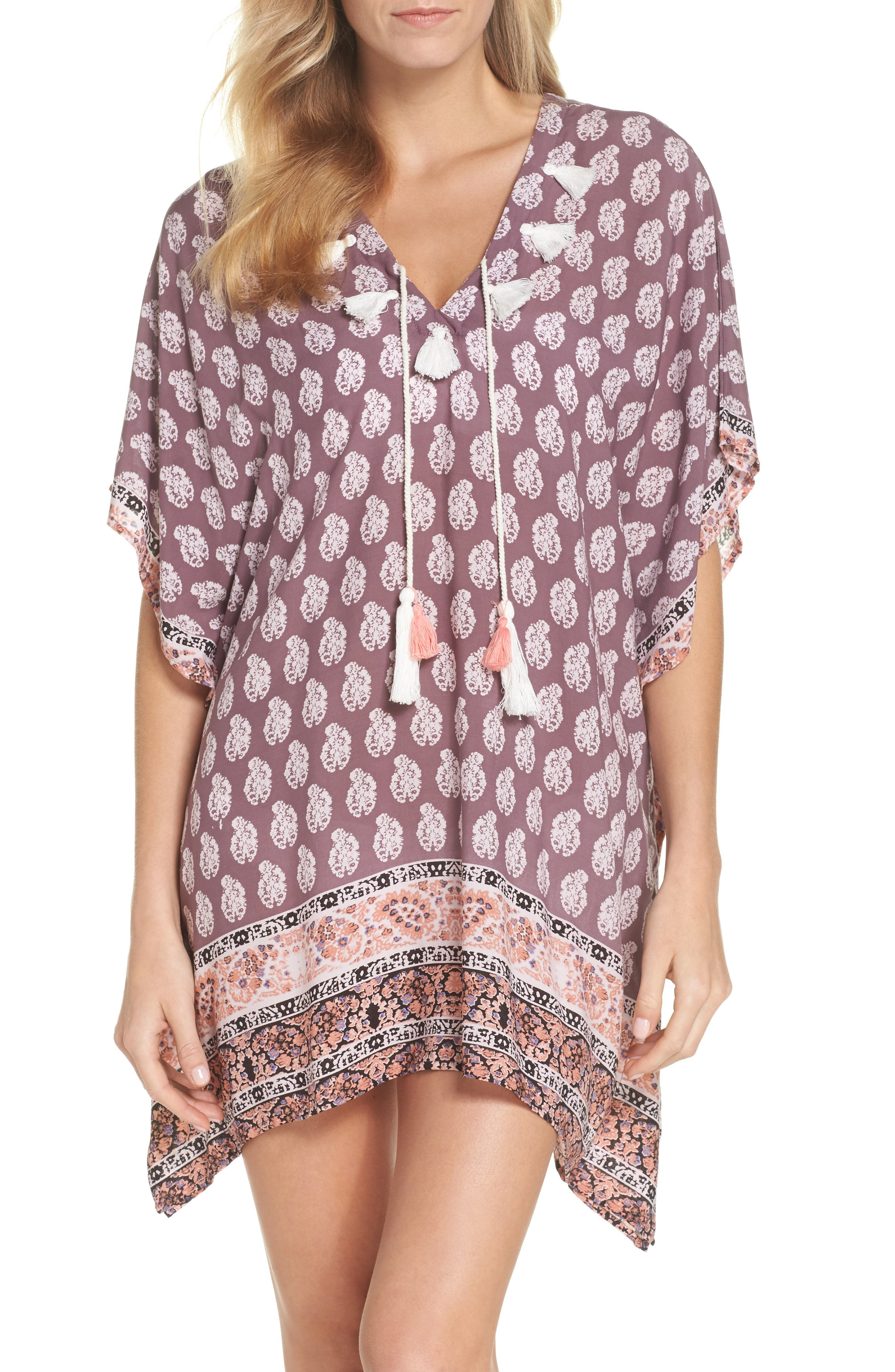Plum Paradise Cover-Up Tunic,                             Main thumbnail 1, color,                             510