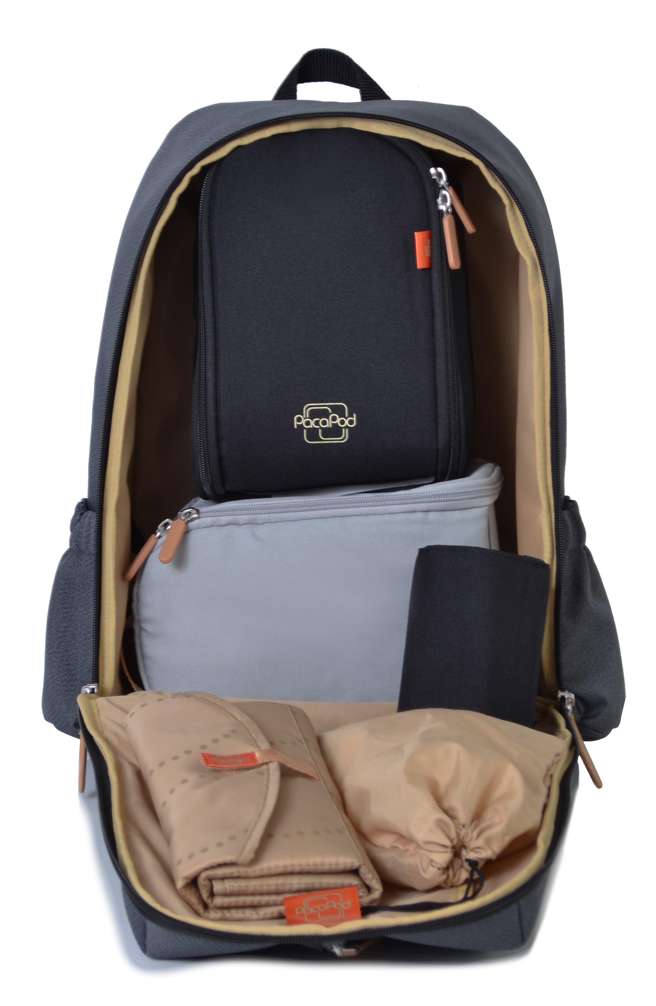Picos Pack Diaper Backpack,                             Alternate thumbnail 2, color,                             BLACK CHARCOAL